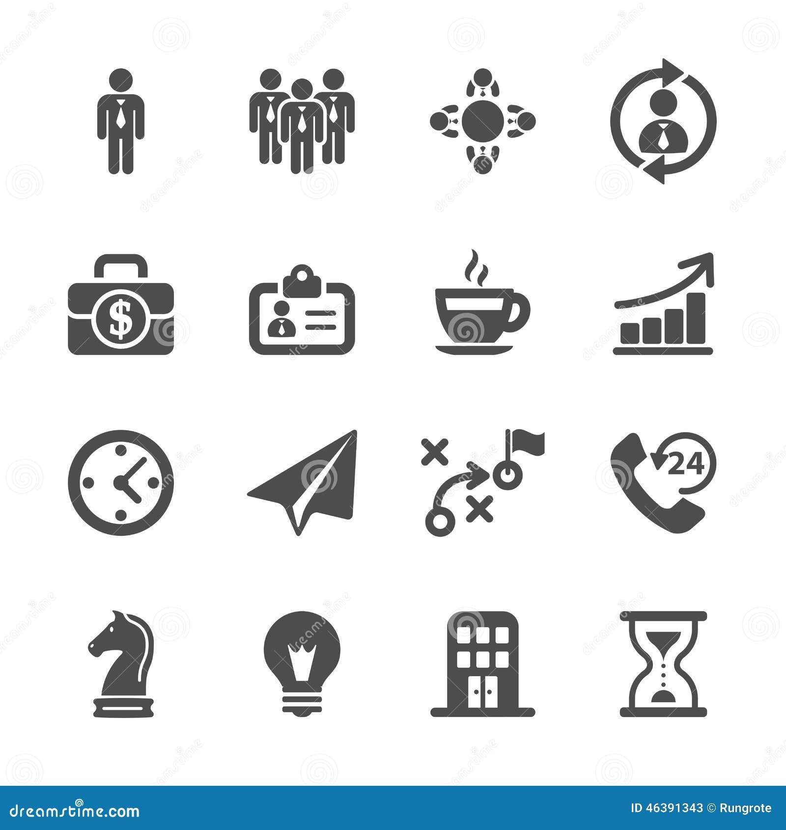 Σύνολο εικονιδίων επιχειρησιακής στρατηγικής, διανυσματικό eps10
