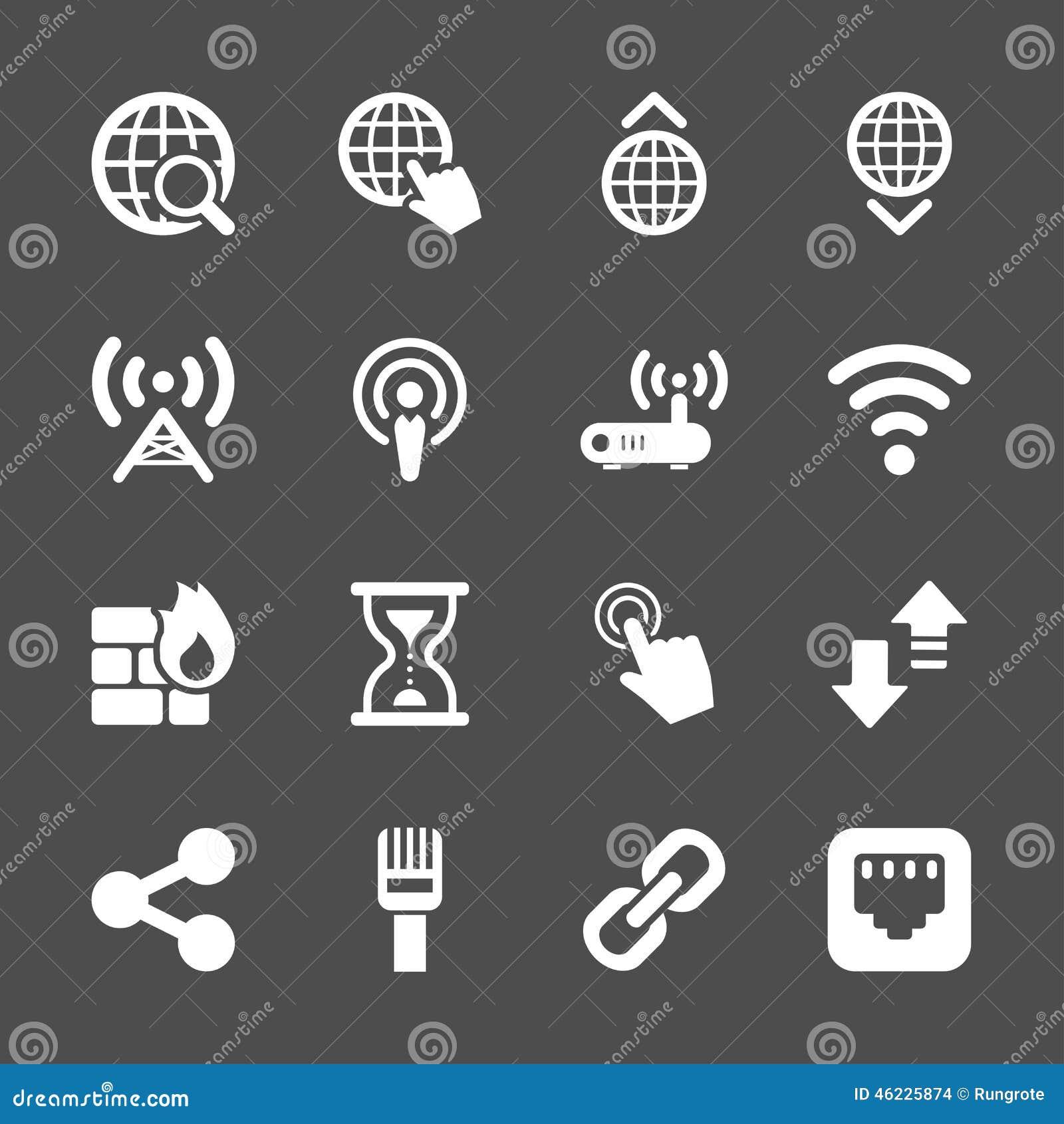 Σύνολο εικονιδίων δικτύων, διανυσματικό eps10