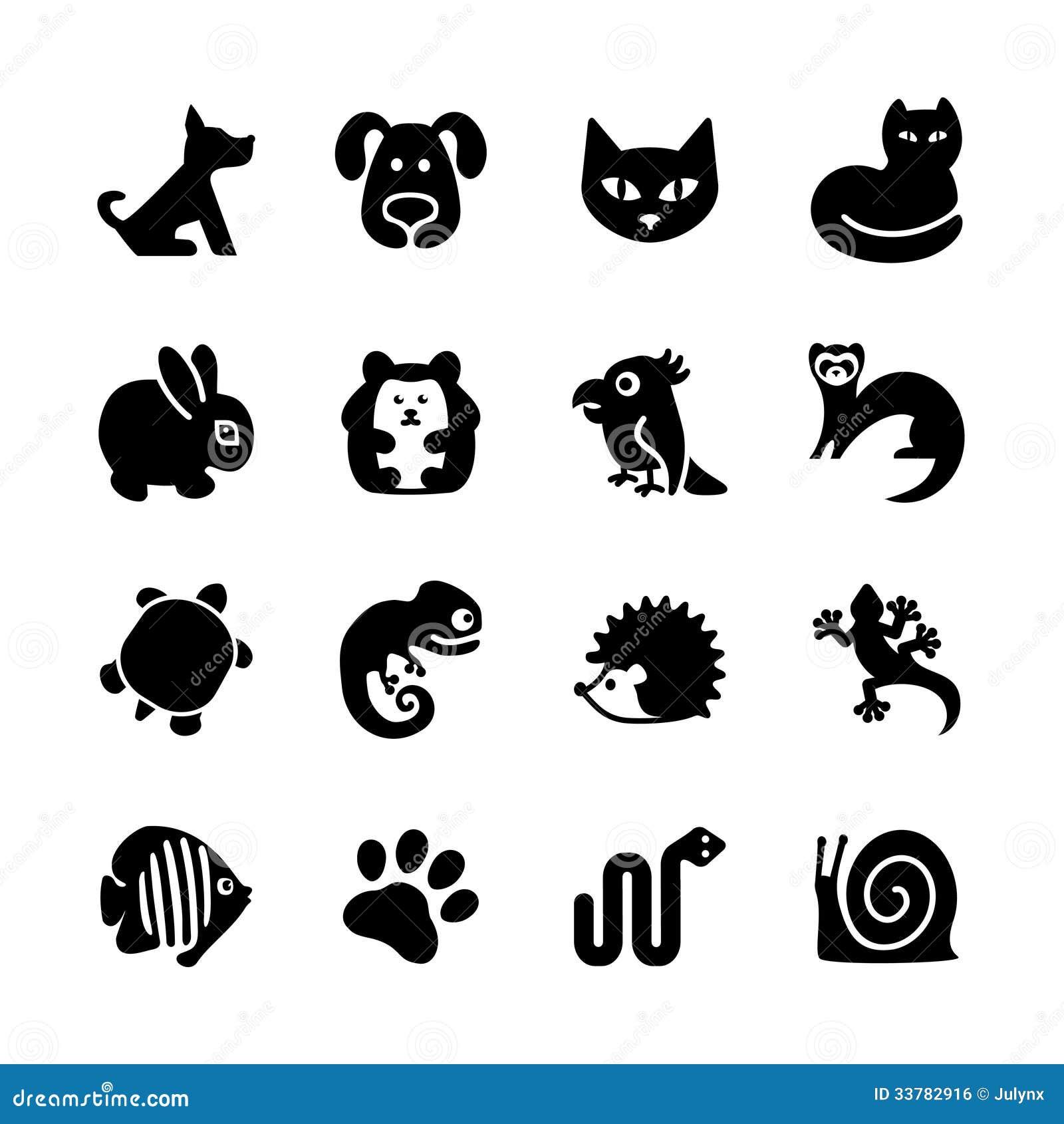 Σύνολο εικονιδίων Ιστού. Κατάστημα της Pet, τύποι κατοικίδιων ζώων.
