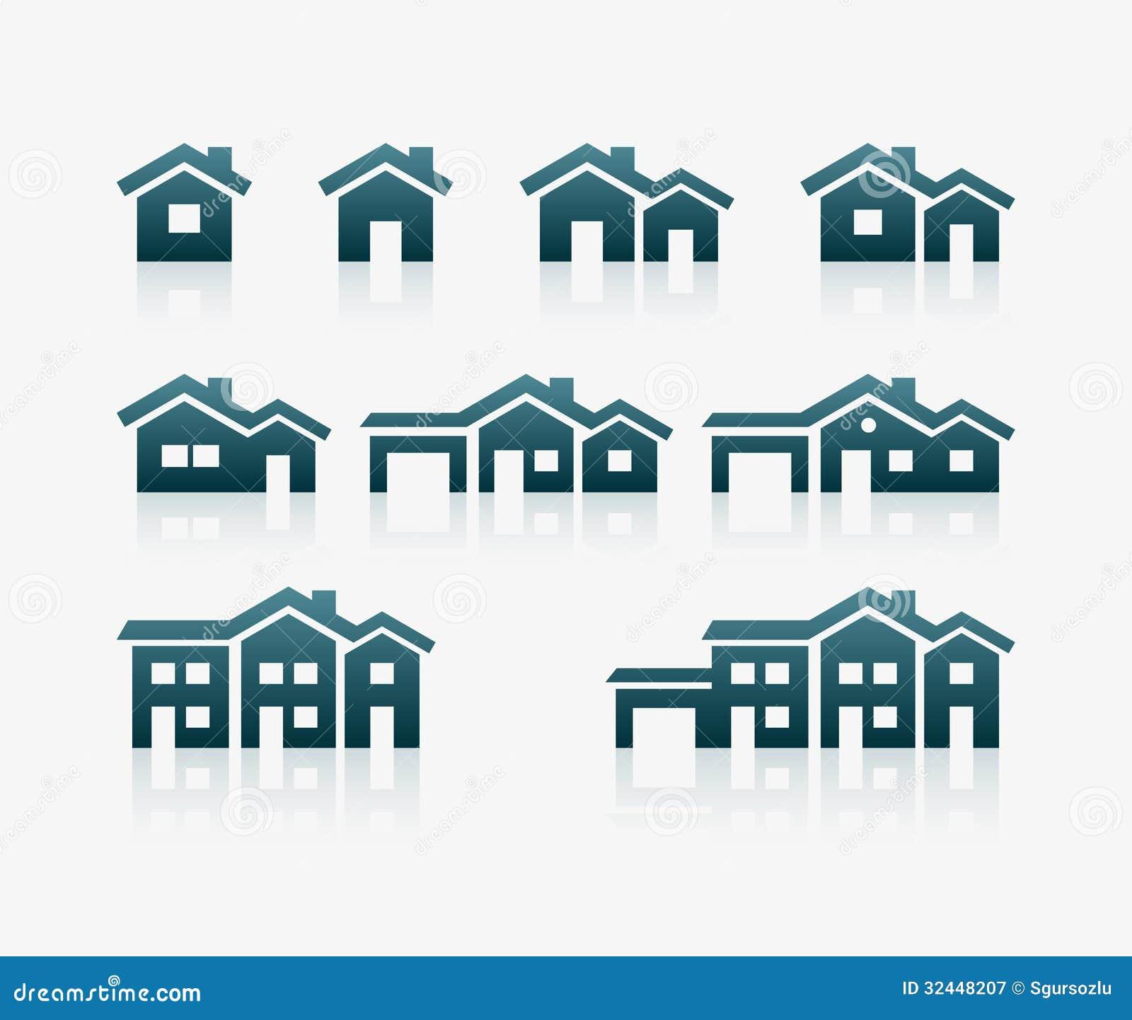 Σύνολο εικονιδίων σπιτιών