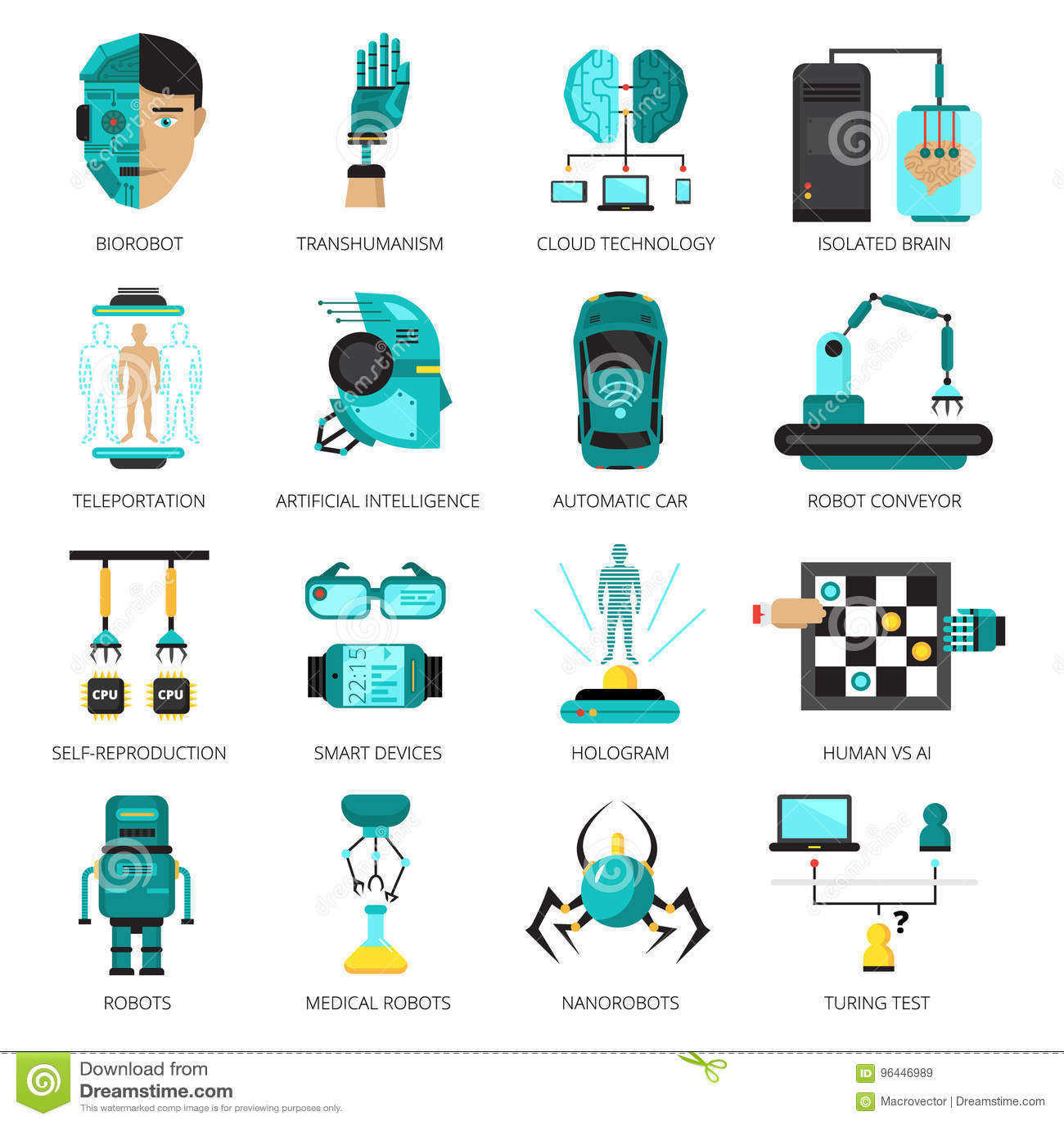 Σύνολο εικονιδίων τεχνητής νοημοσύνης