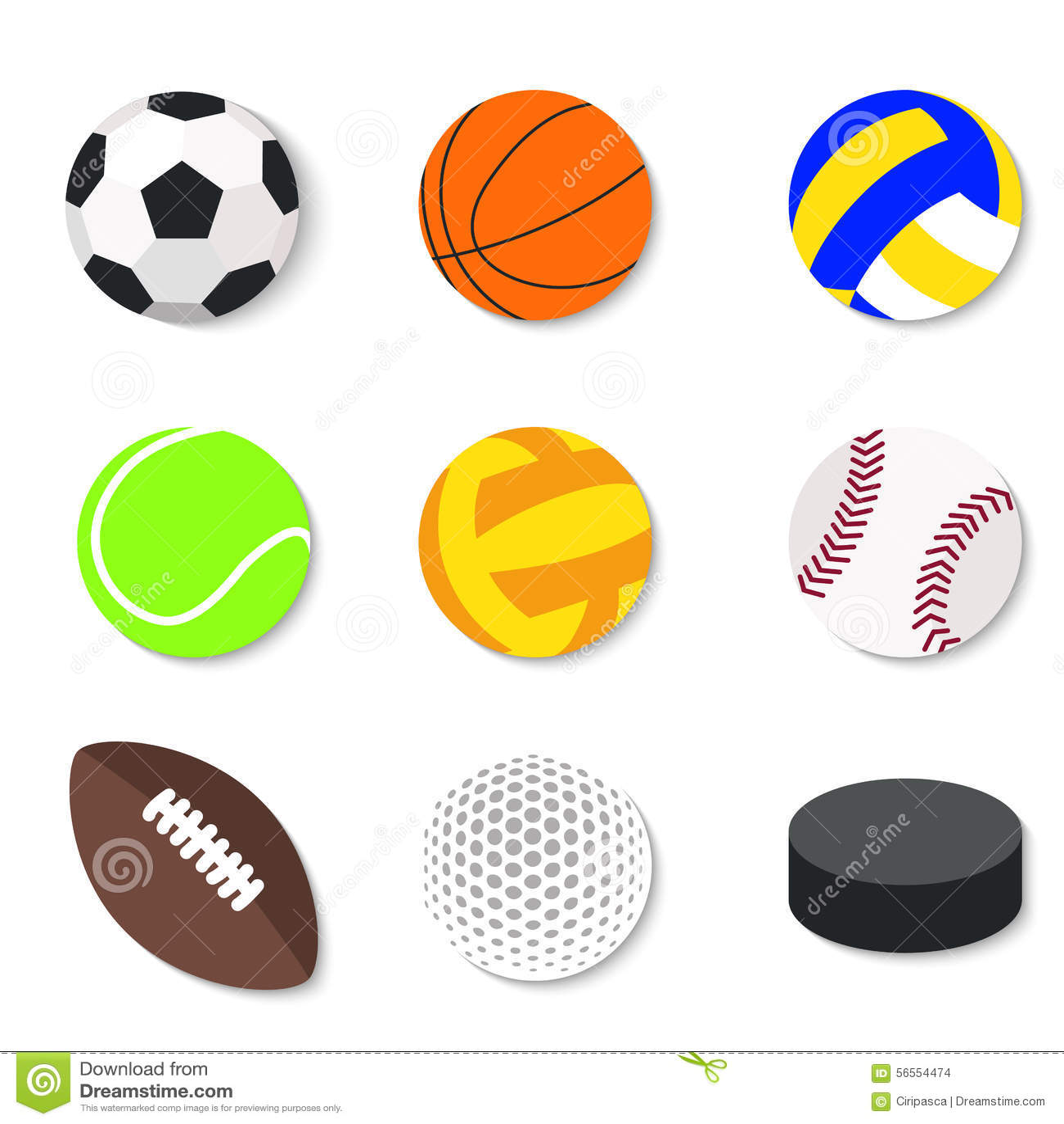 Download Σύνολο επίπεδων αθλητικών σφαιρών σχεδίου Διανυσματική απεικόνιση - εικονογραφία από αθλητικό, επίπεδος: 56554474
