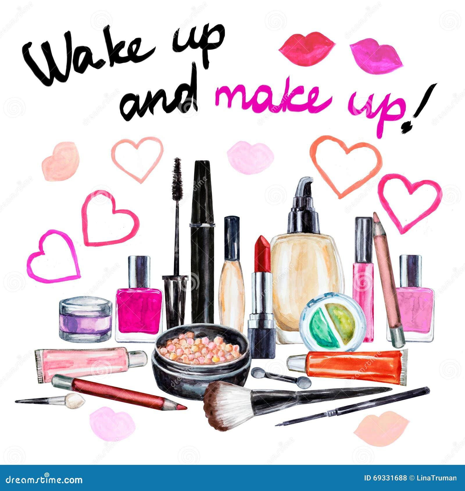 Σύνολο διακοσμητικού καλλυντικού διάφορου watercolor Προϊόντα Makeup