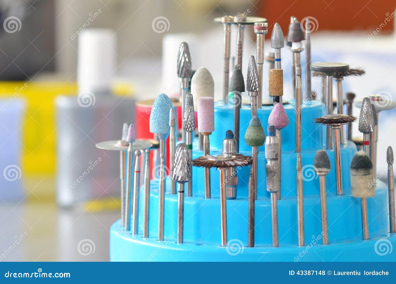 Σύνολο οδοντικών burs και τροχών άλεσης