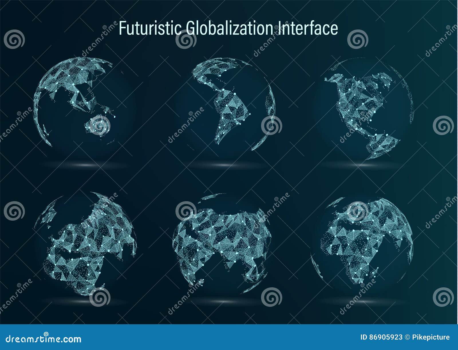 Σύνολο σημείου παγκόσμιων χαρτών Βόρεια Αμερική νότος Αφρική Ασία Ευρώπη Αυστραλία και Ωκεανία επίσης corel σύρετε το διάνυσμα απ