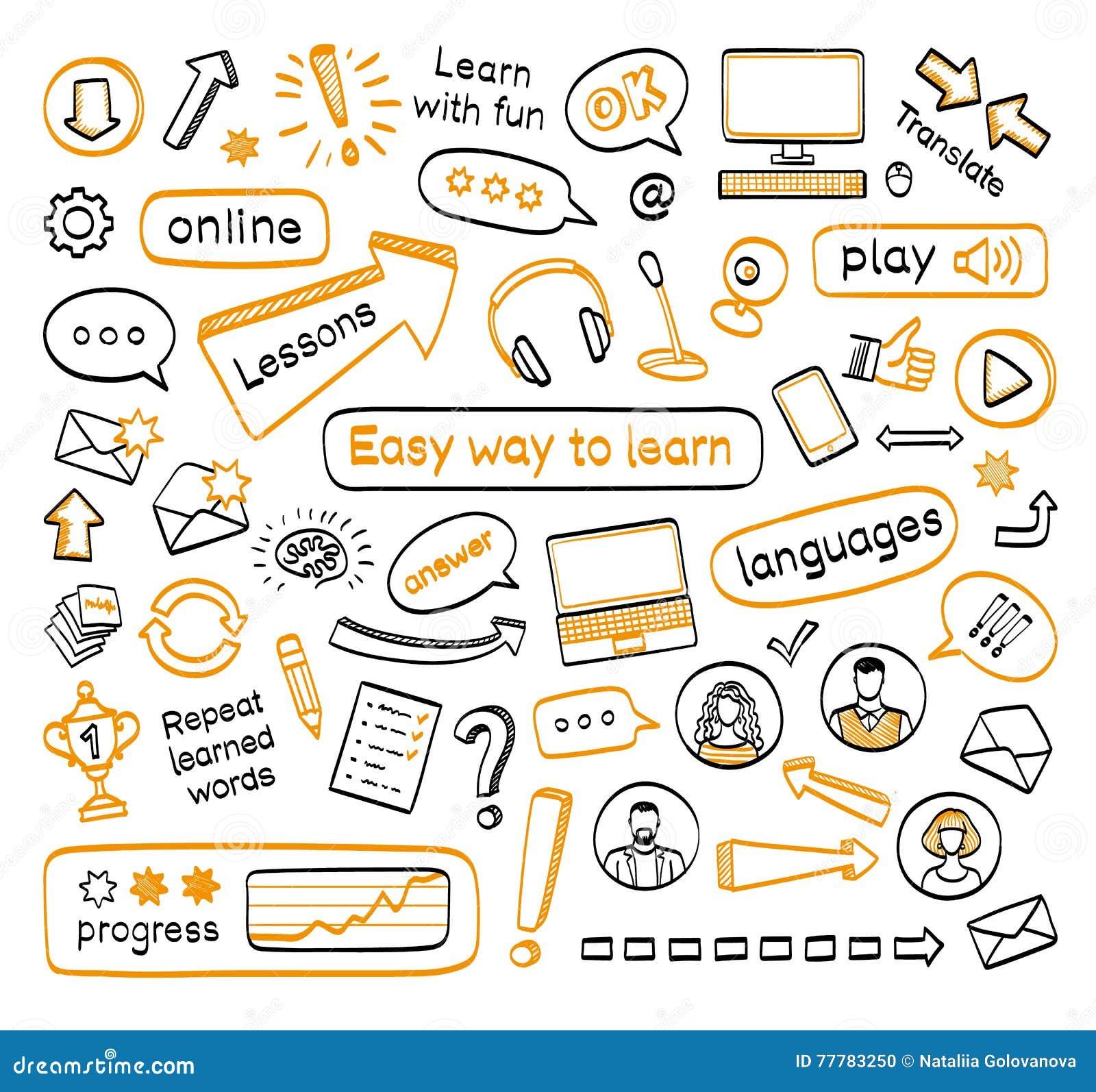 Σύνολο Doodle σε απευθείας σύνδεση μαθημάτων