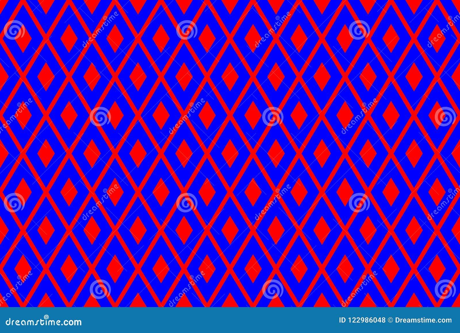 Σύσταση από τα κόκκινα rhombs στο μπλε υπόβαθρο