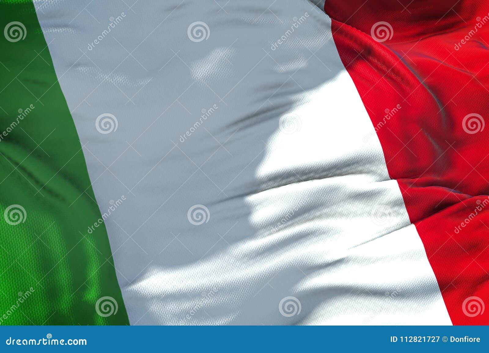 Σύσταση υφάσματος κυματισμού της σημαίας της Ιταλίας, ιταλικό εθνικό ελαφρύ κτύπημα