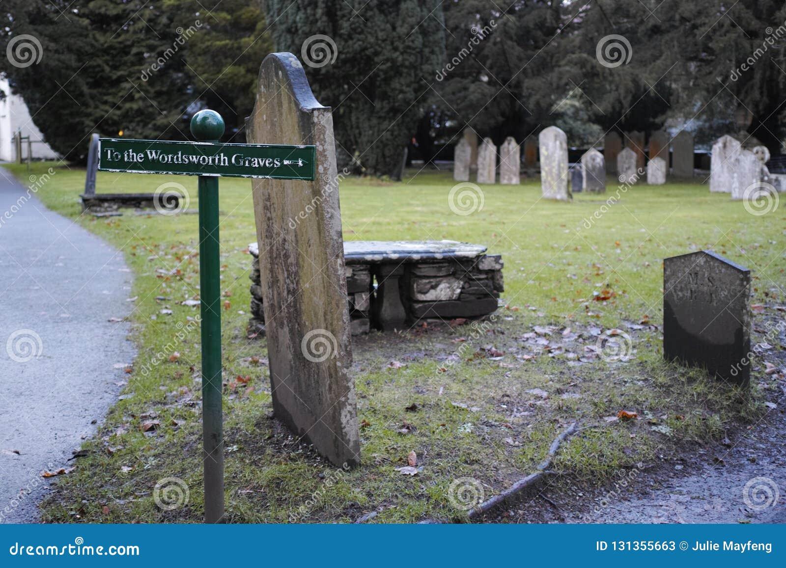 Τάφος του William Wordsworth στην εκκλησία κοινοτήτων Gasmere
