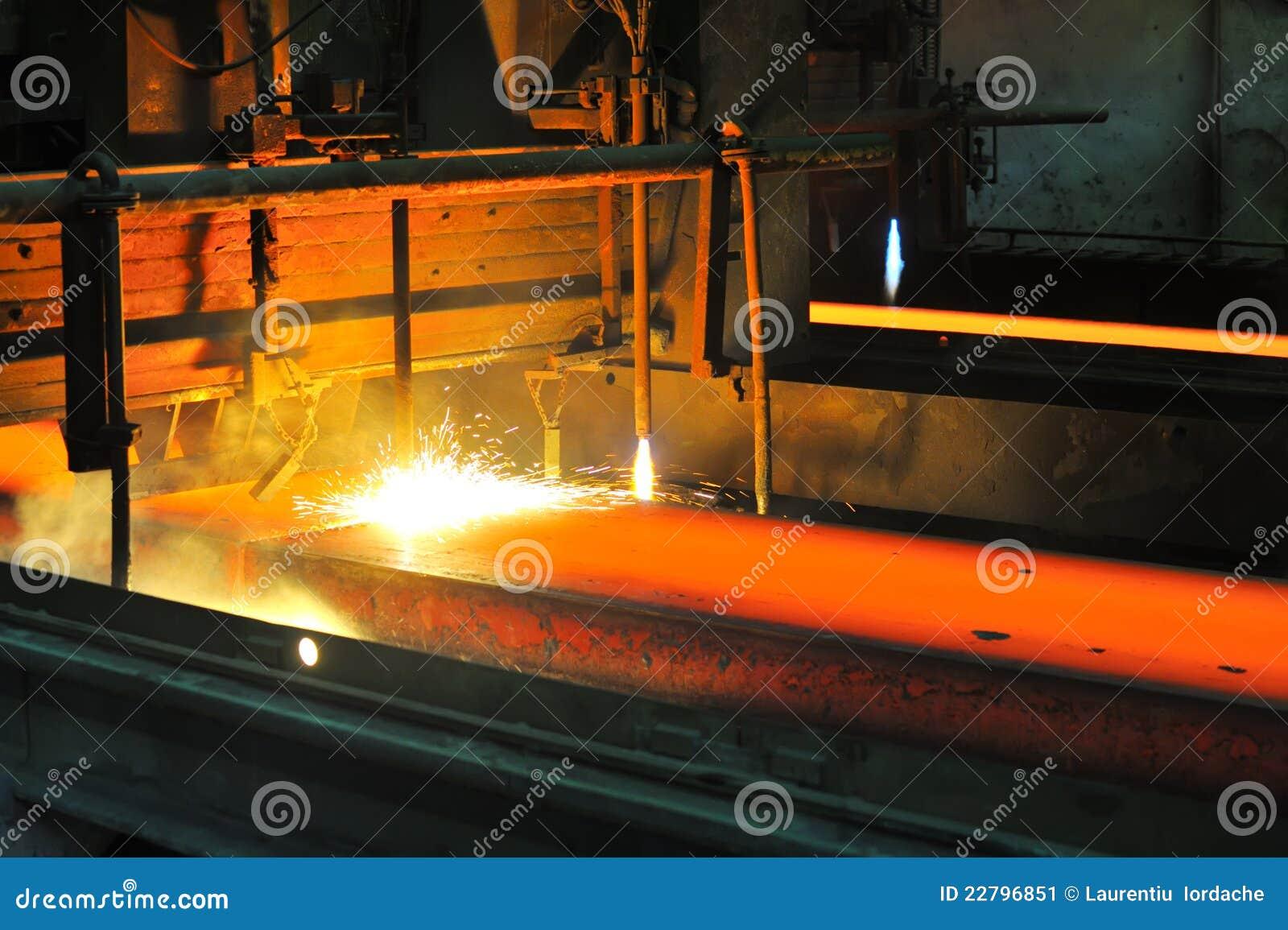 τέμνον καυτό μέταλλο αερίου