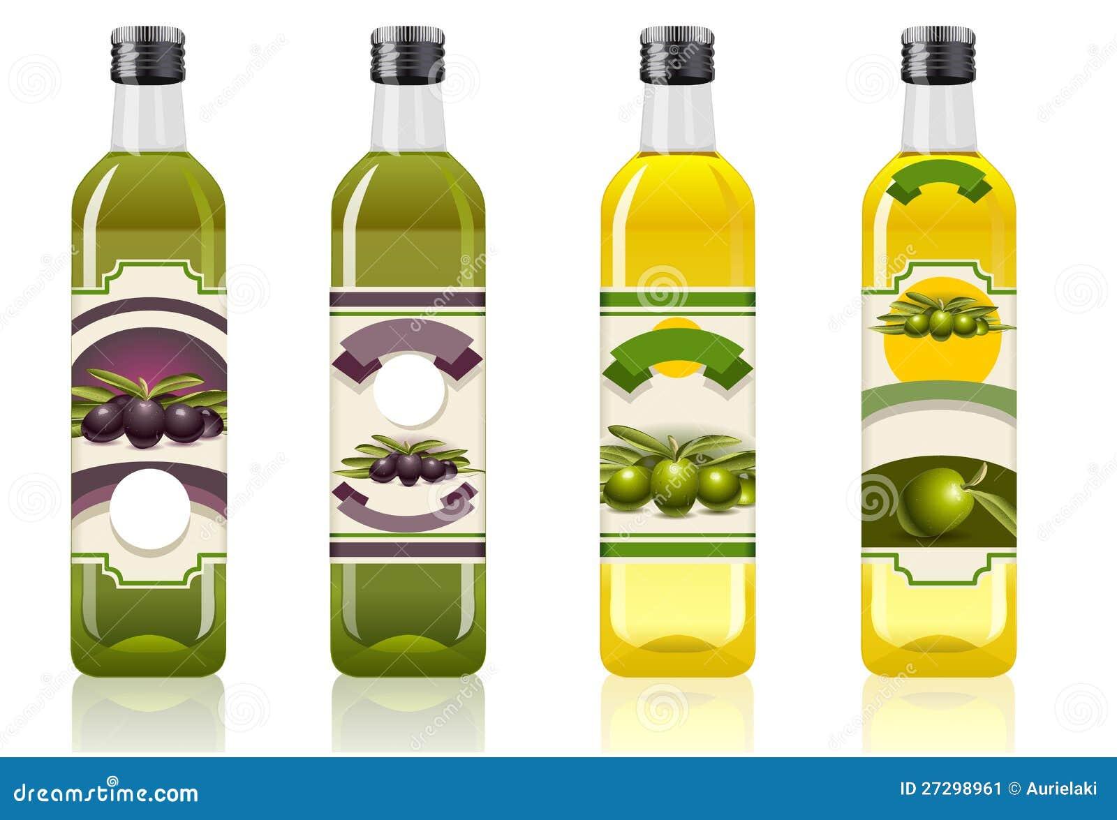 Τέσσερα μπουκάλια ελαιολάδου