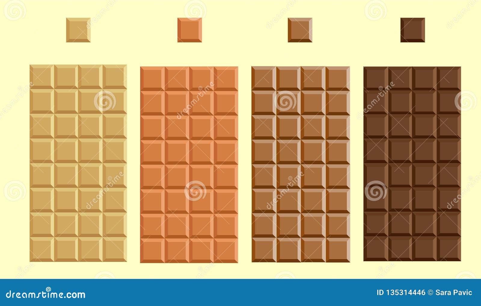 Τέσσερις τύποι λεπτότερων σοκολατών
