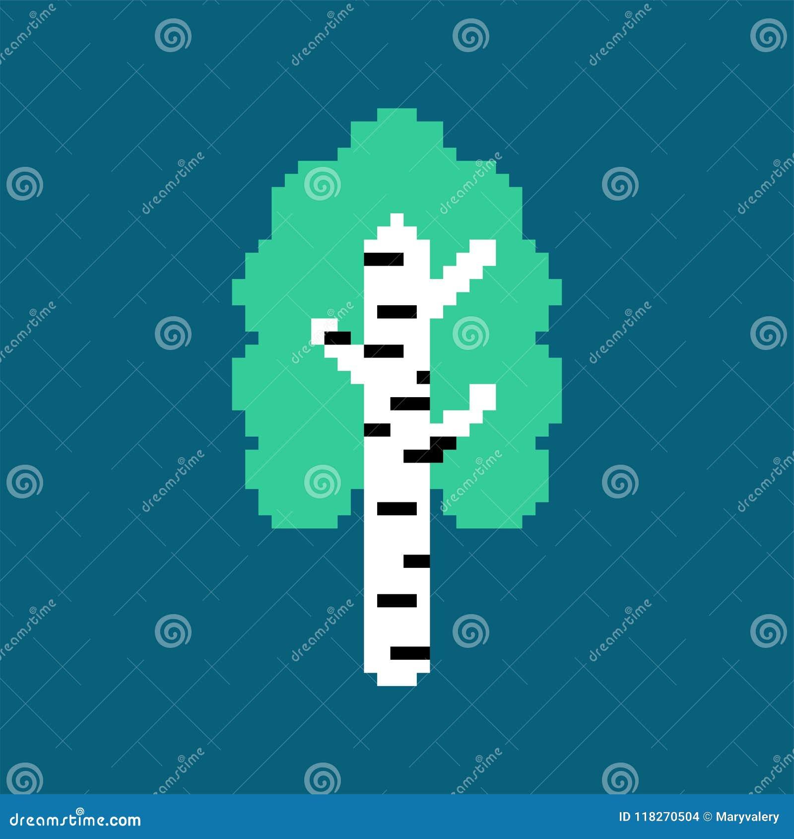 Τέχνη εικονοκυττάρου σημύδων Εθνικό ρωσικό δέντρο επίσης corel σύρετε το διάνυσμα απεικόνισης