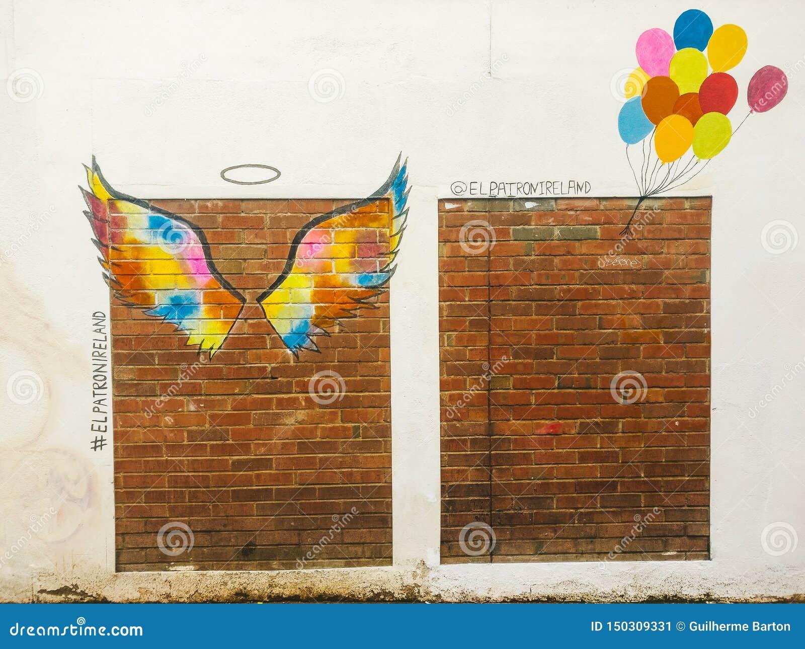 Τέχνη οδών μπαλονιών αγγέλου