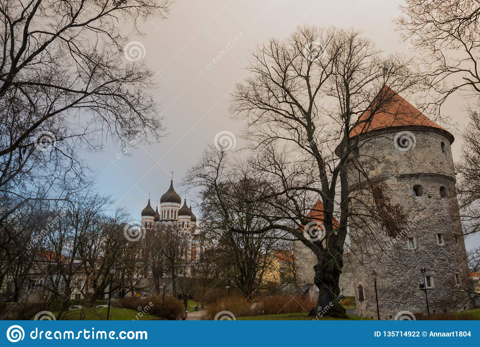 Ταλίν, Εσθονία: Kiek σε de Kok Museum και σήραγγες προμαχώνων στο μεσαιωνικό τοίχο πόλεων του Ταλίν αμυντικό Άποψη του Αλεξάνδρου