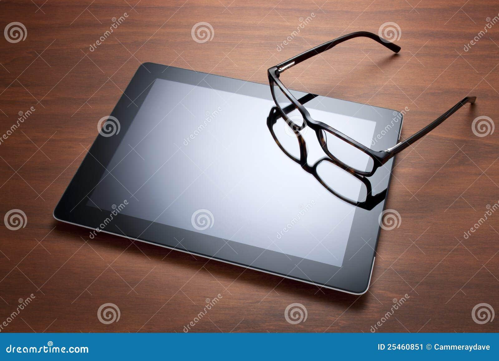 ταμπλέτα γυαλιών υπολογιστών ipad