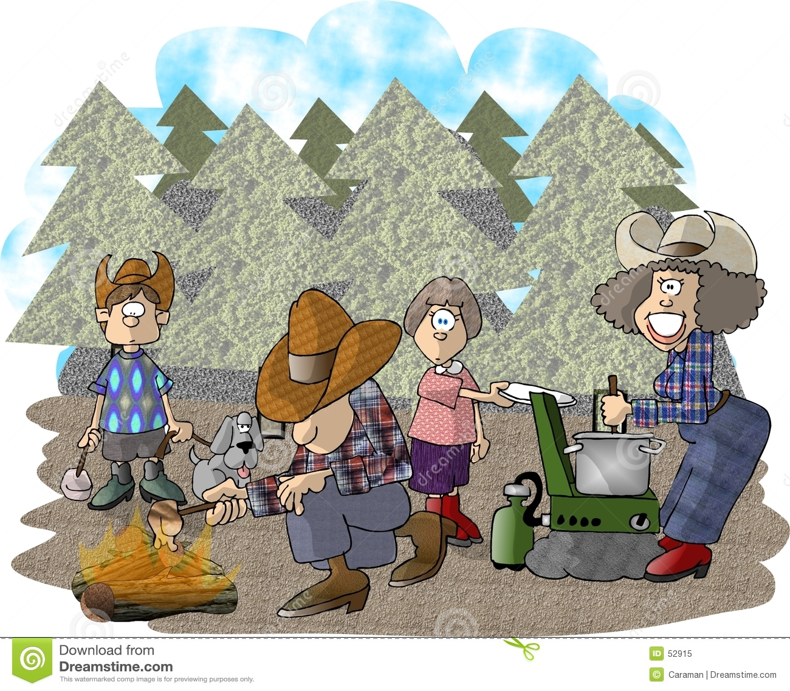 Download ταξίδι στρατοπέδευσης απεικόνιση αποθεμάτων. εικονογραφία από χιούμορ - 52915