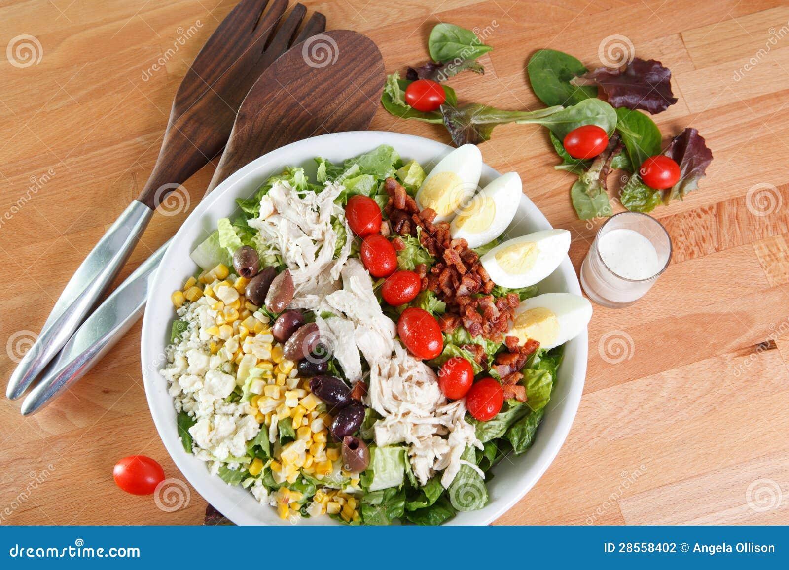 Ταξινομημένη γεύμα σαλάτα cobb