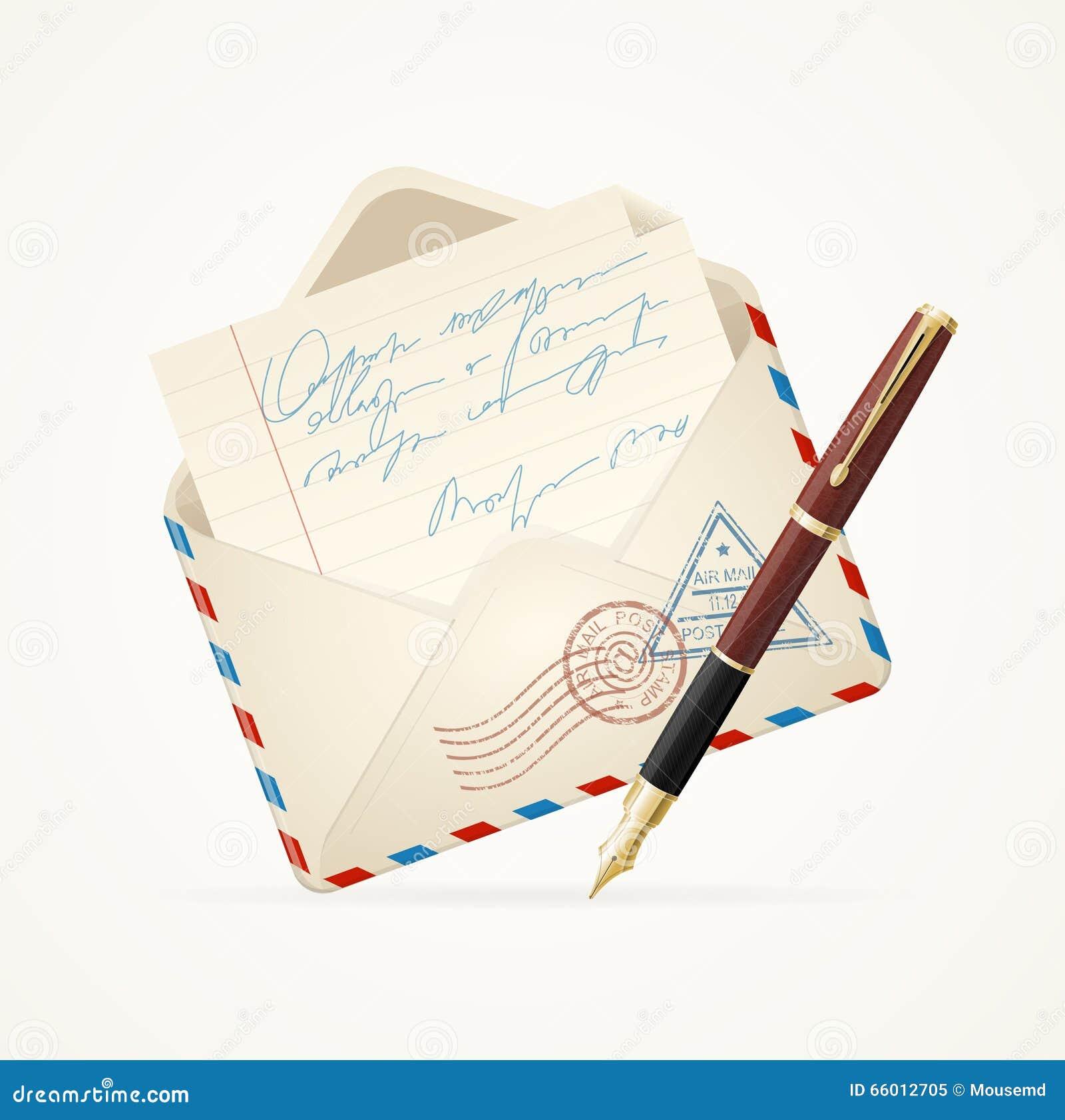 Ταχυδρομείο και μάνδρα επιστολών διάνυσμα