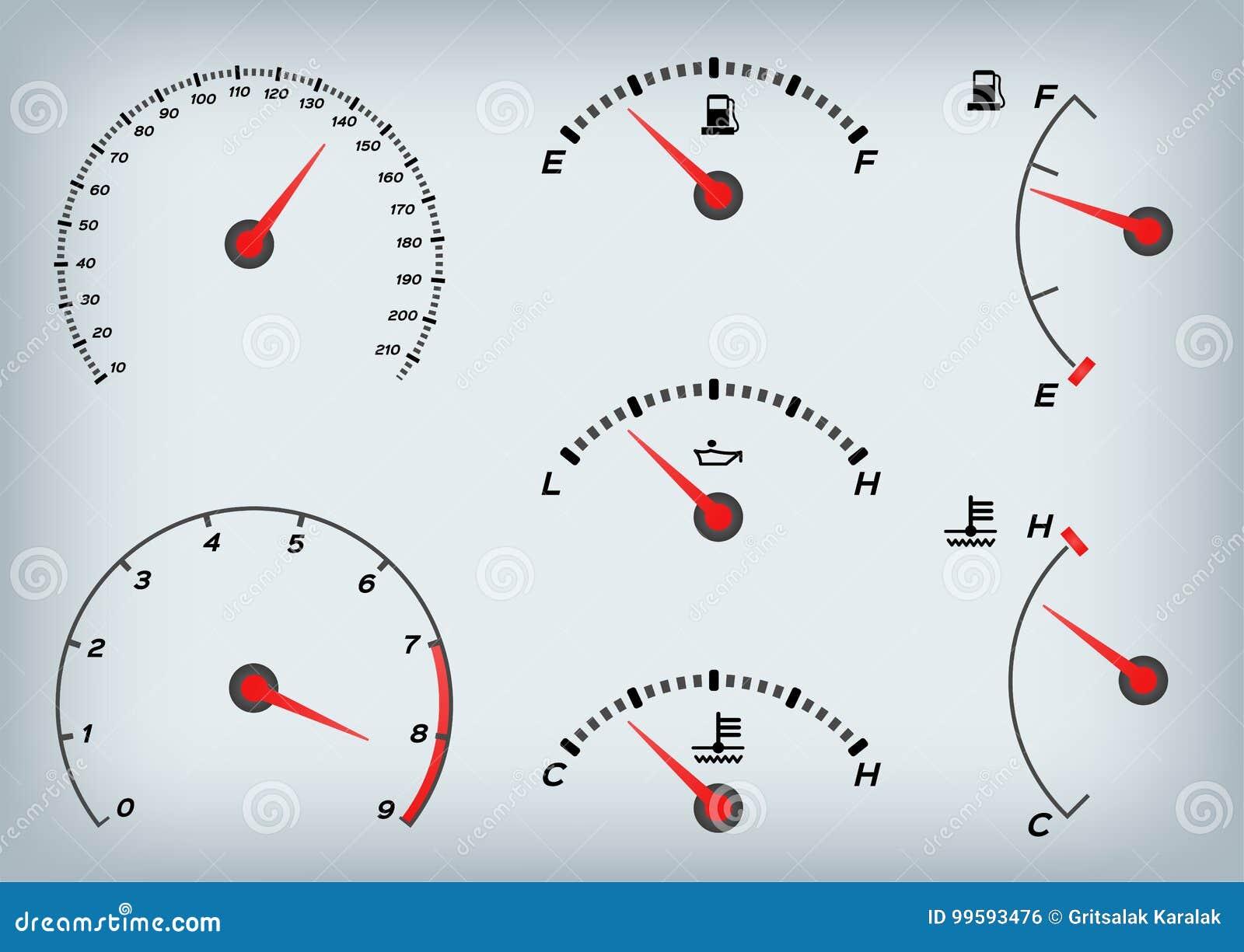 Ταχύμετρο για το αυτοκίνητο Μετρητής και ταχύμετρο καυσίμων