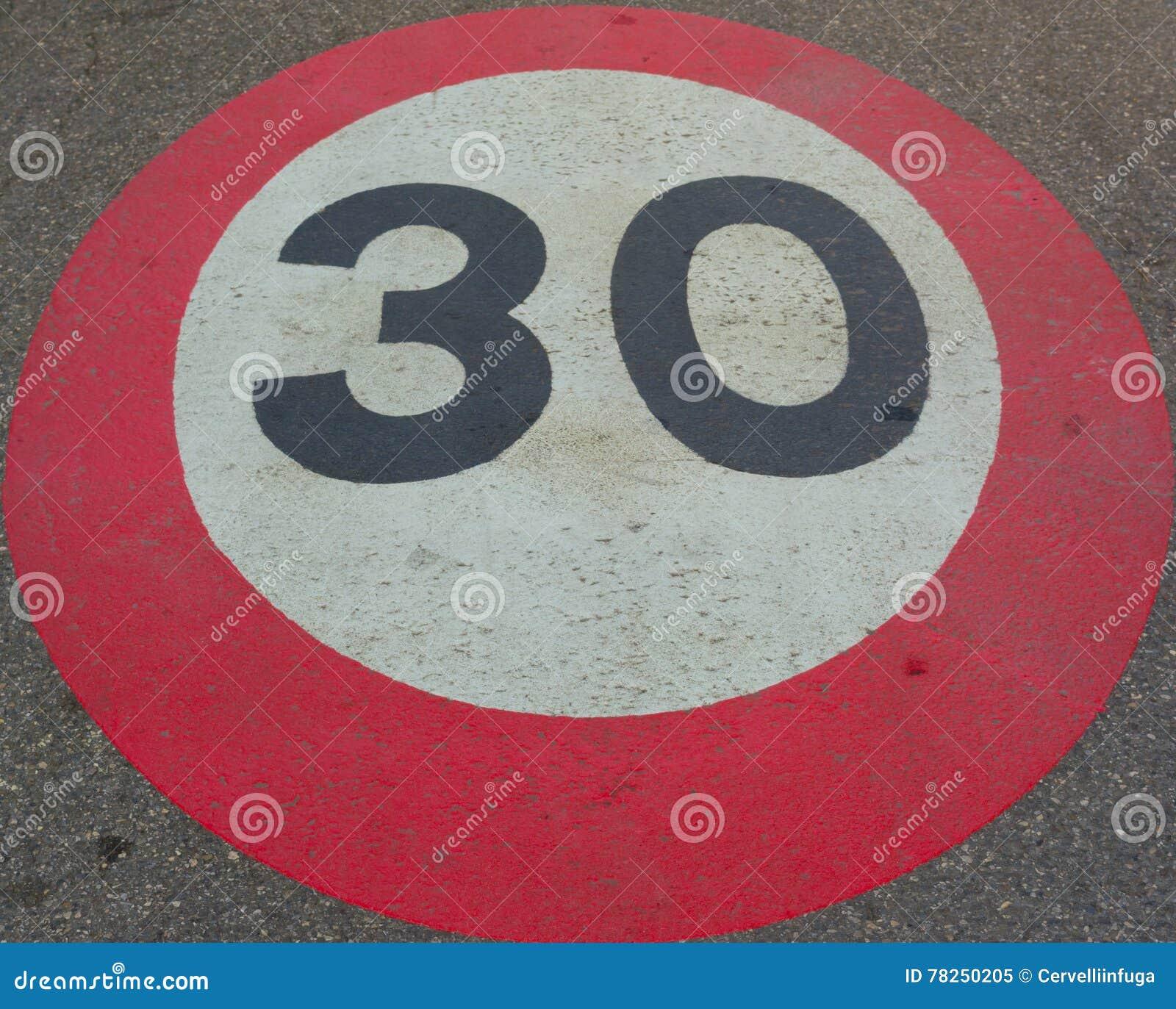 ταχύτητα τριάντα ορίου