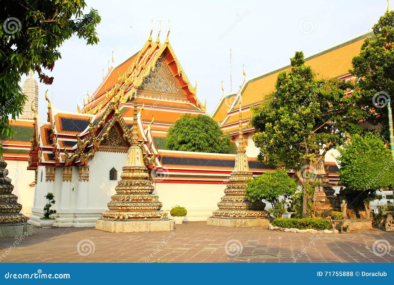ταϊλανδικό wat pho αρχιτεκτονικής αυθεντικό