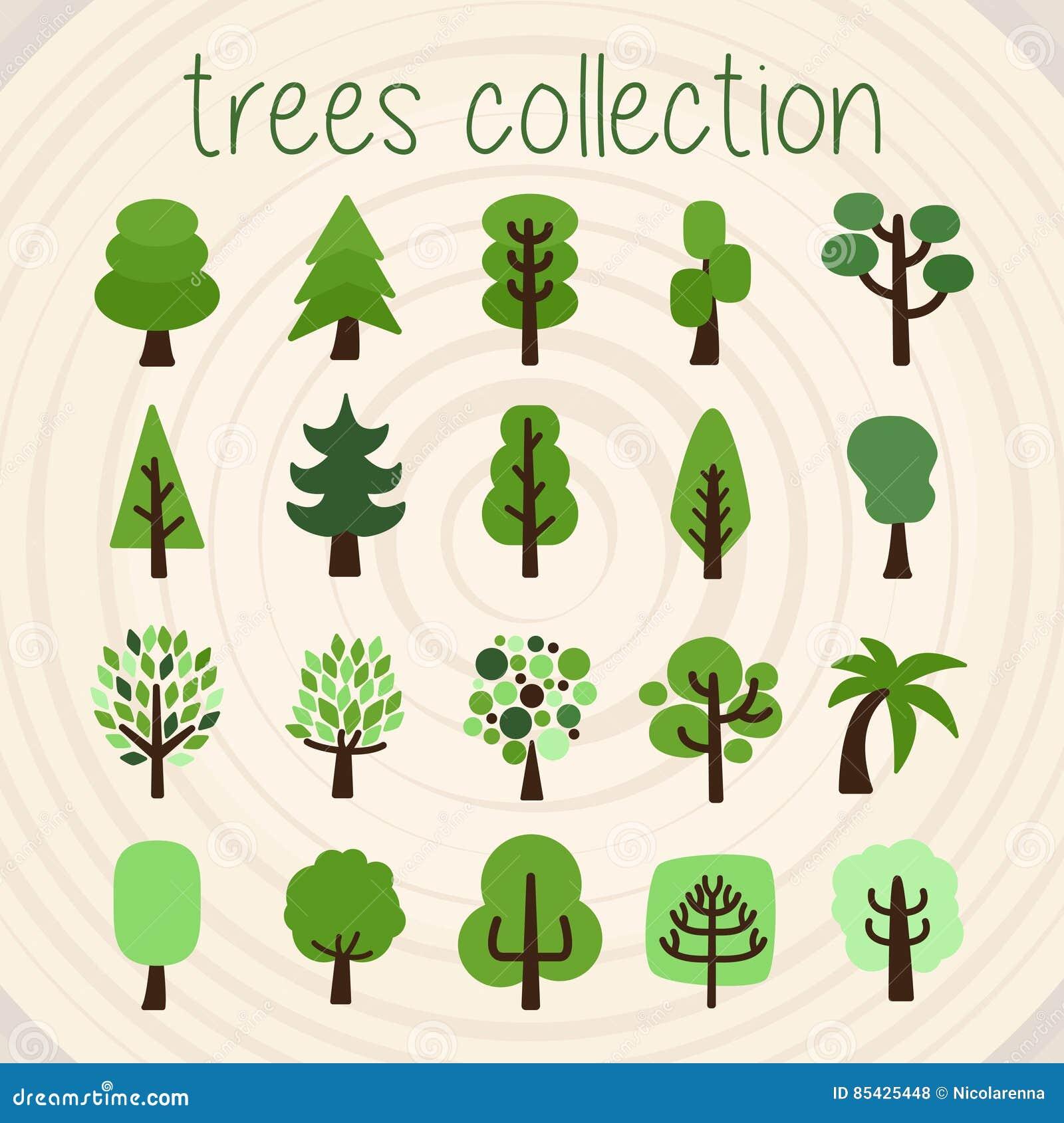Τα δέντρα χρωματίζουν τη διανυσματική επιλογή