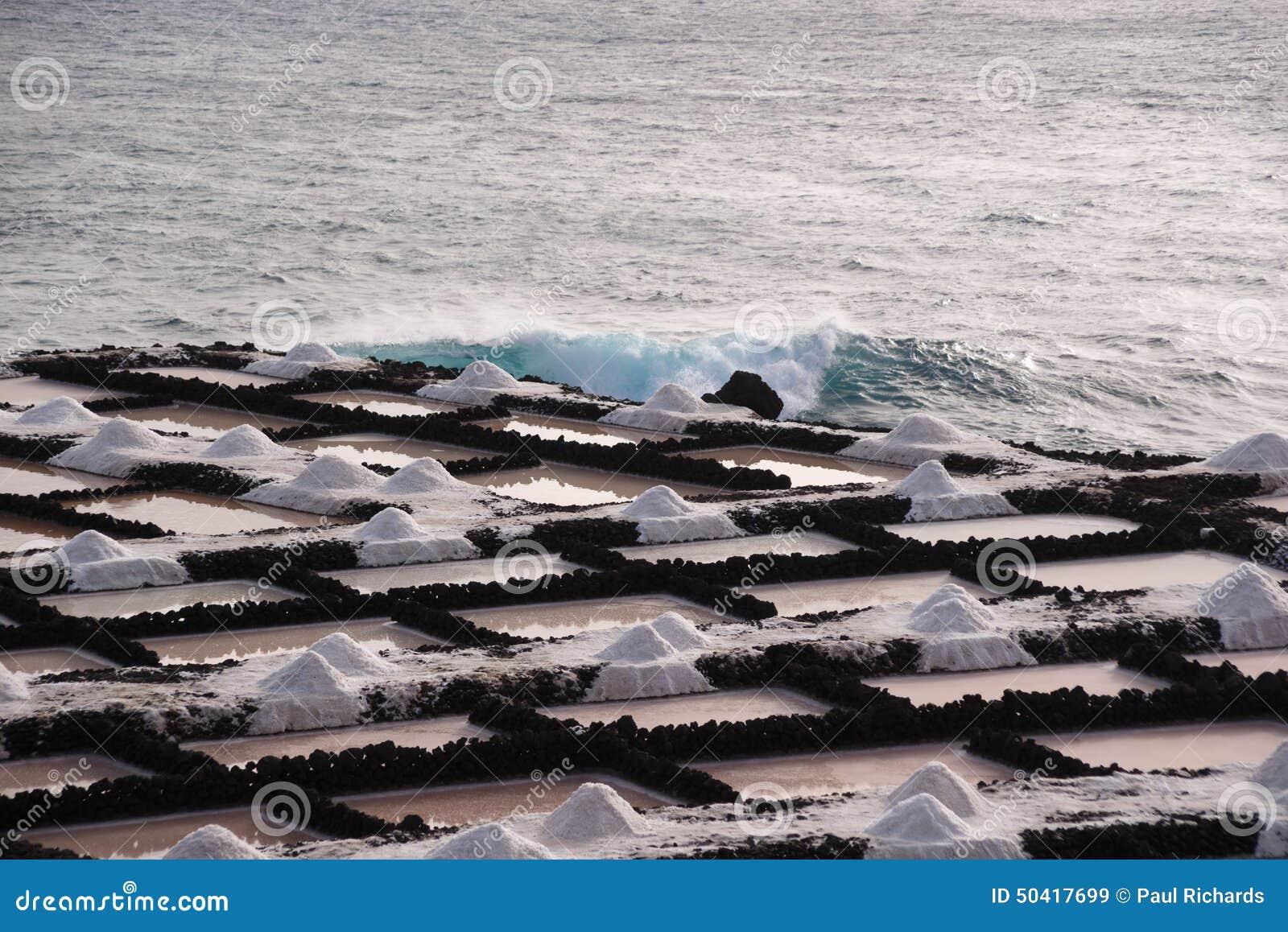 Τα αλατισμένα τηγάνια Fuencaliente, Λα Palma, Κανάρια νησιά