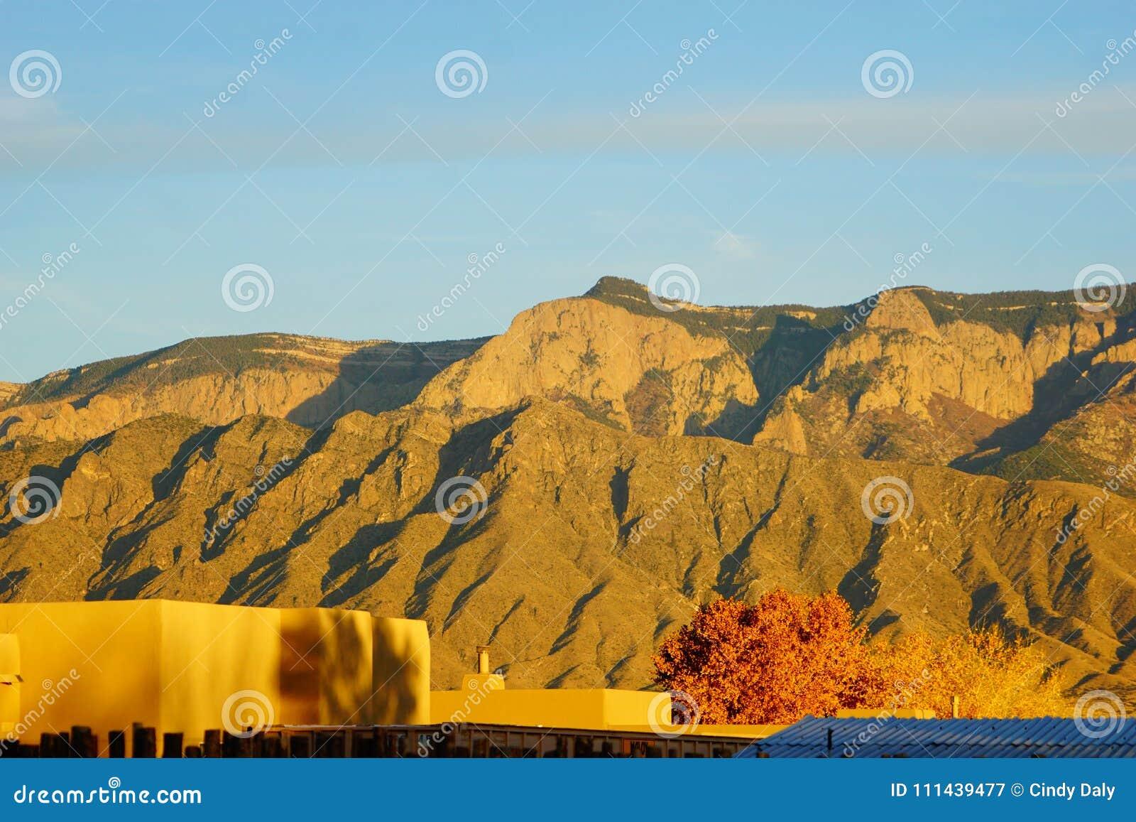 Τα βουνά Sandia στο Νέο Μεξικό