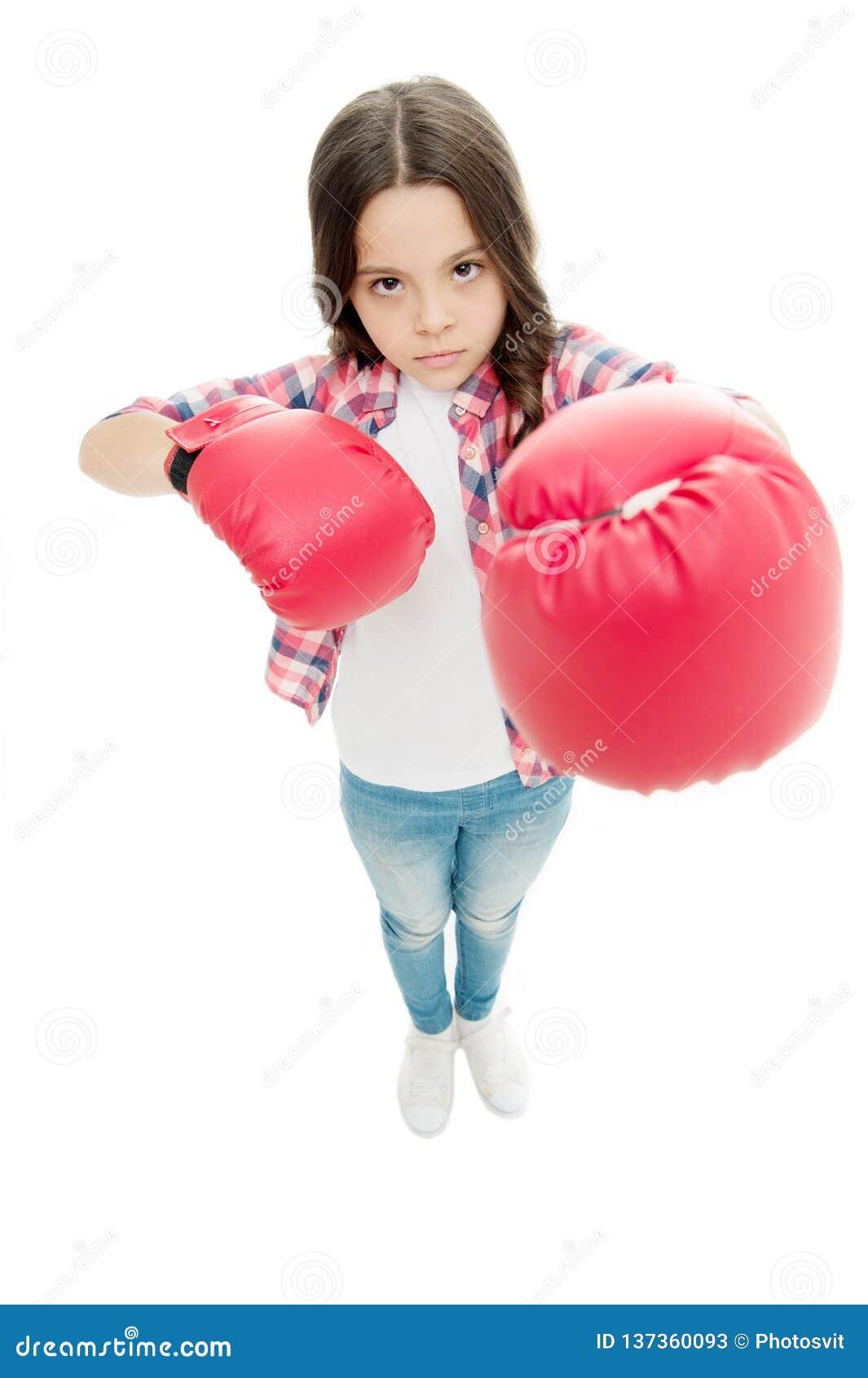 Τα εγκιβωτίζοντας γάντια παιδιών απομόνωσαν το λευκό Ο μπόξερ παιδιών υπερασπίζεται Αθλητική δραστηριότητα Πρακτική εγκιβωτισμού