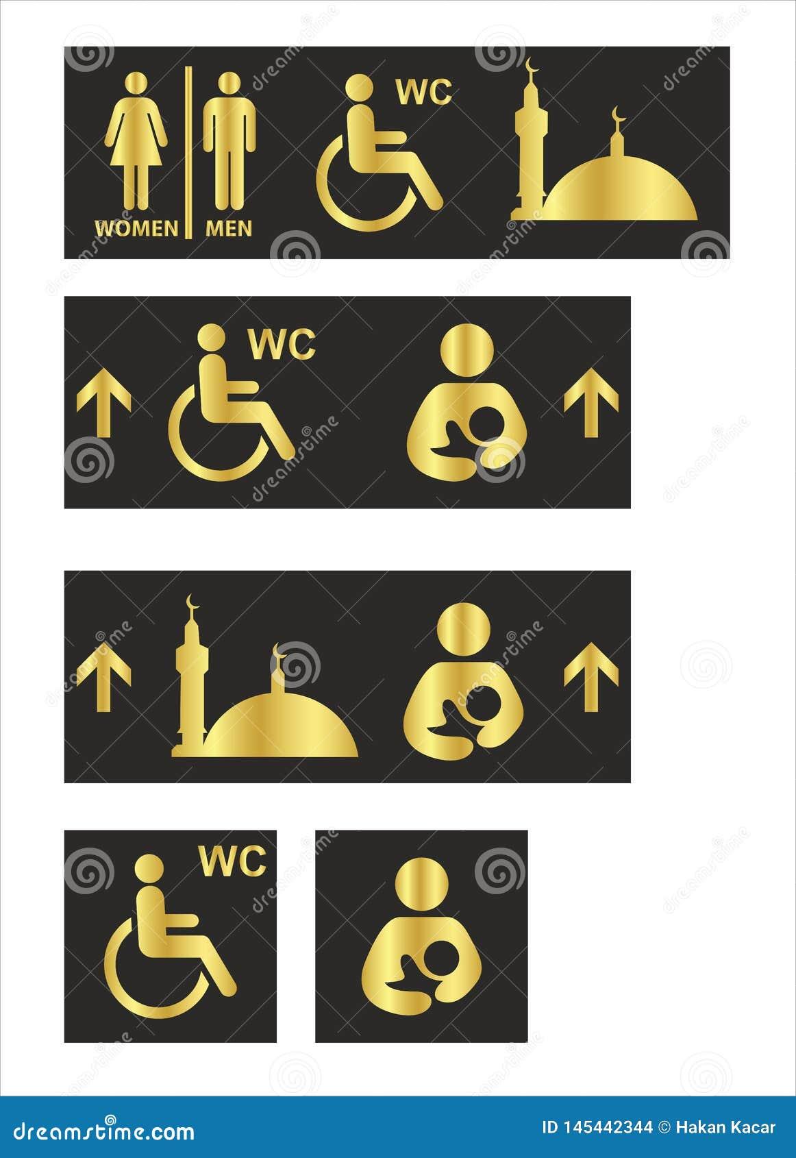 Τα εικονίδια τουαλετών καθορισμένα το WC χώρων ανάπαυσης αγοριών ή κοριτσιών