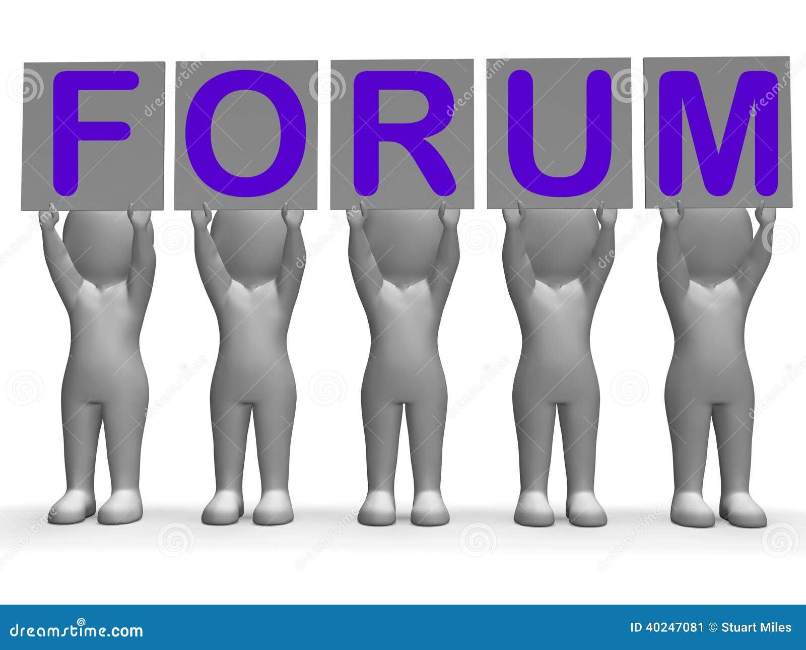 Τα εμβλήματα φόρουμ σημαίνουν τις σε απευθείας σύνδεση συνομιλίες και