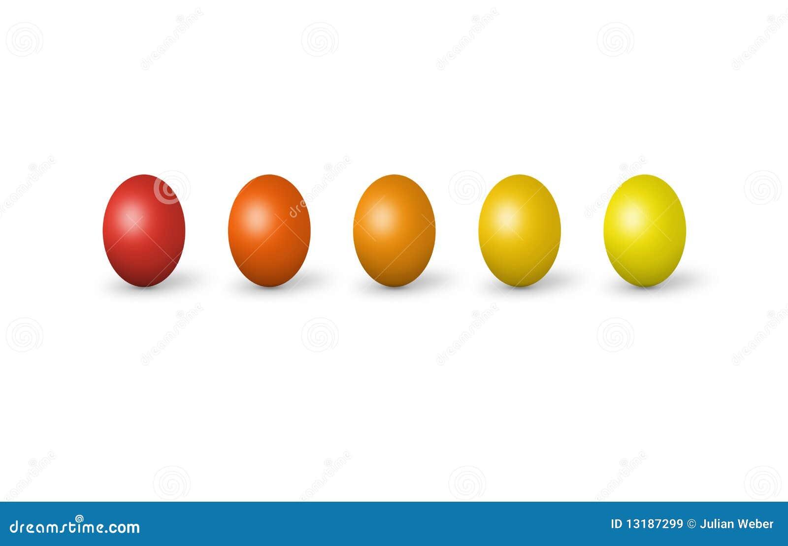 τα ζωηρόχρωμα αυγά Πάσχας &alpha
