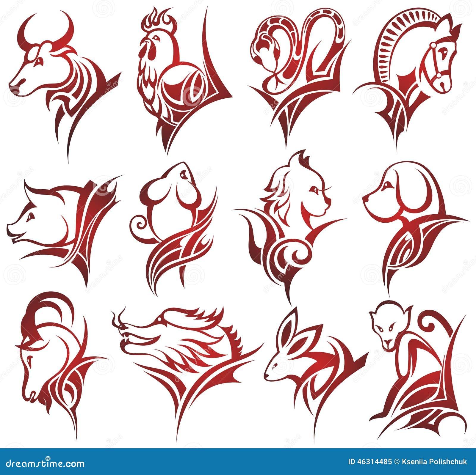 τα κινέζικα υπογράφουν zodiac