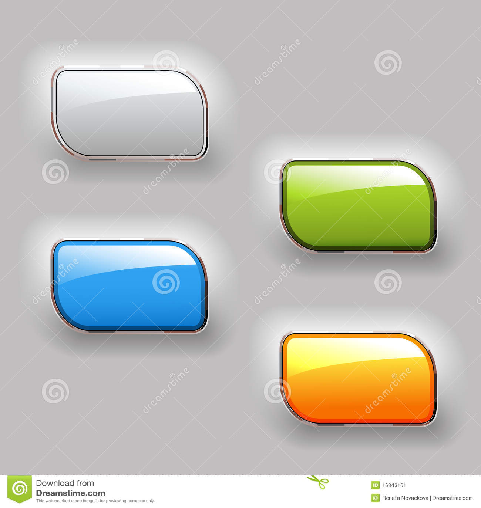 τα κουμπιά χρωματίζουν το