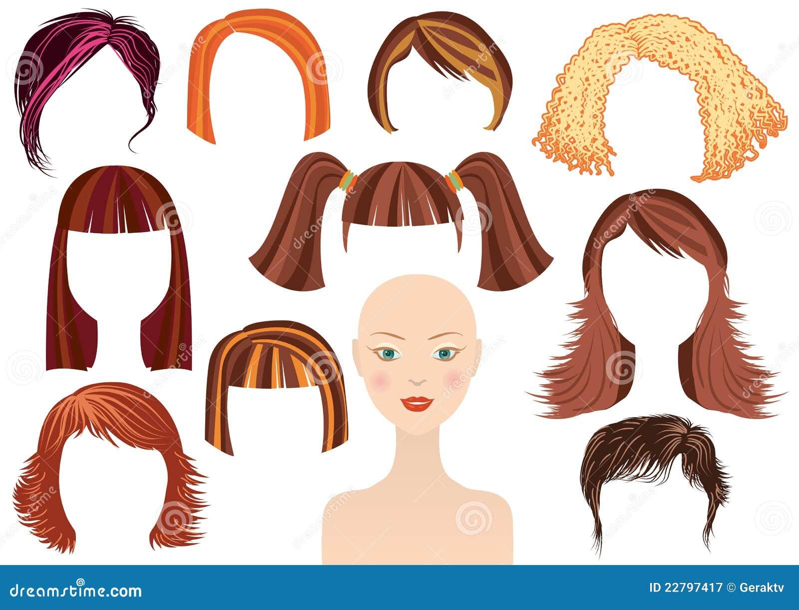 Download τα κουρέματα προσώπου Hairstyle &th Διανυσματική απεικόνιση - εικονογραφία από σύνολο, θηλυκό: 22797417