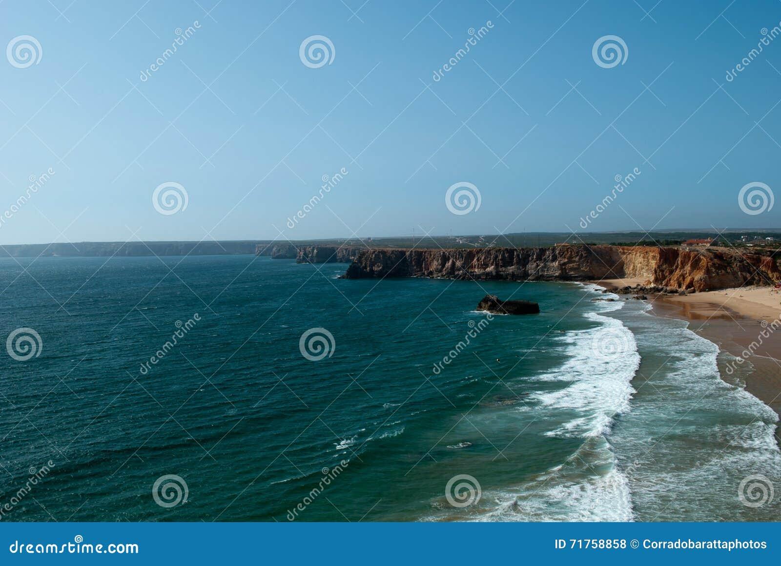 Τα κύματα του Ατλαντικού Ωκεανού στην ακτή της Πορτογαλίας
