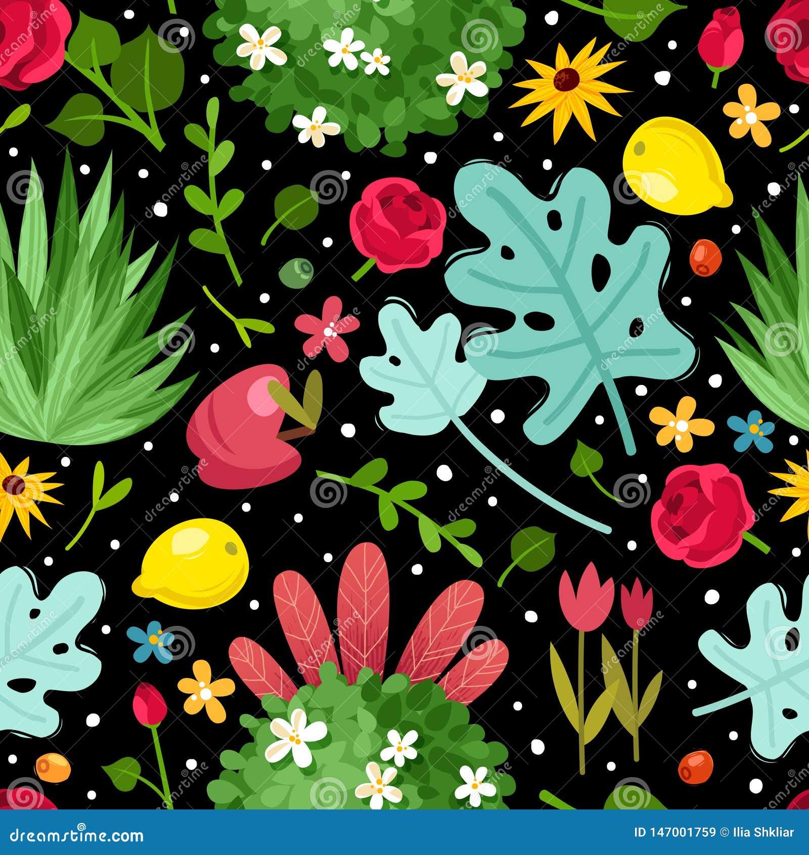 Τα λουλούδια καλλιεργούν άνευ ραφής σχέδιο