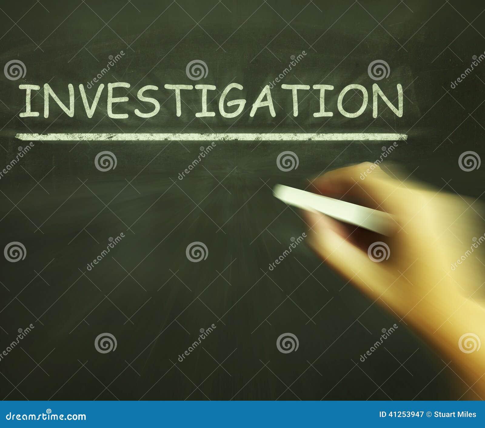 Τα μέσα κιμωλίας έρευνας επιθεωρούν αναλύουν και ανακαλύπτουν