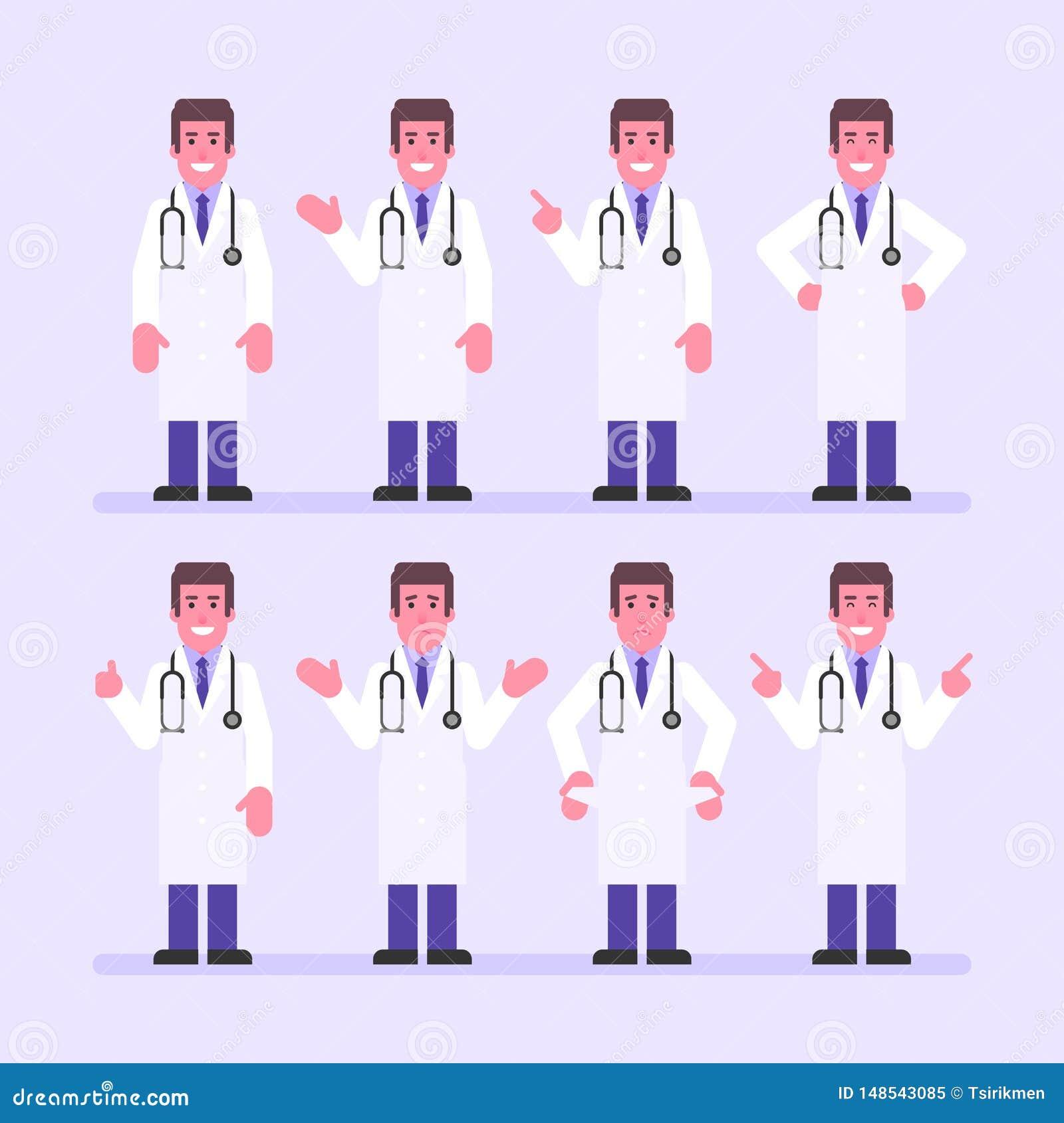 Τα σημεία γιατρών και παρουσιάζουν Χαρακτήρας - σύνολο
