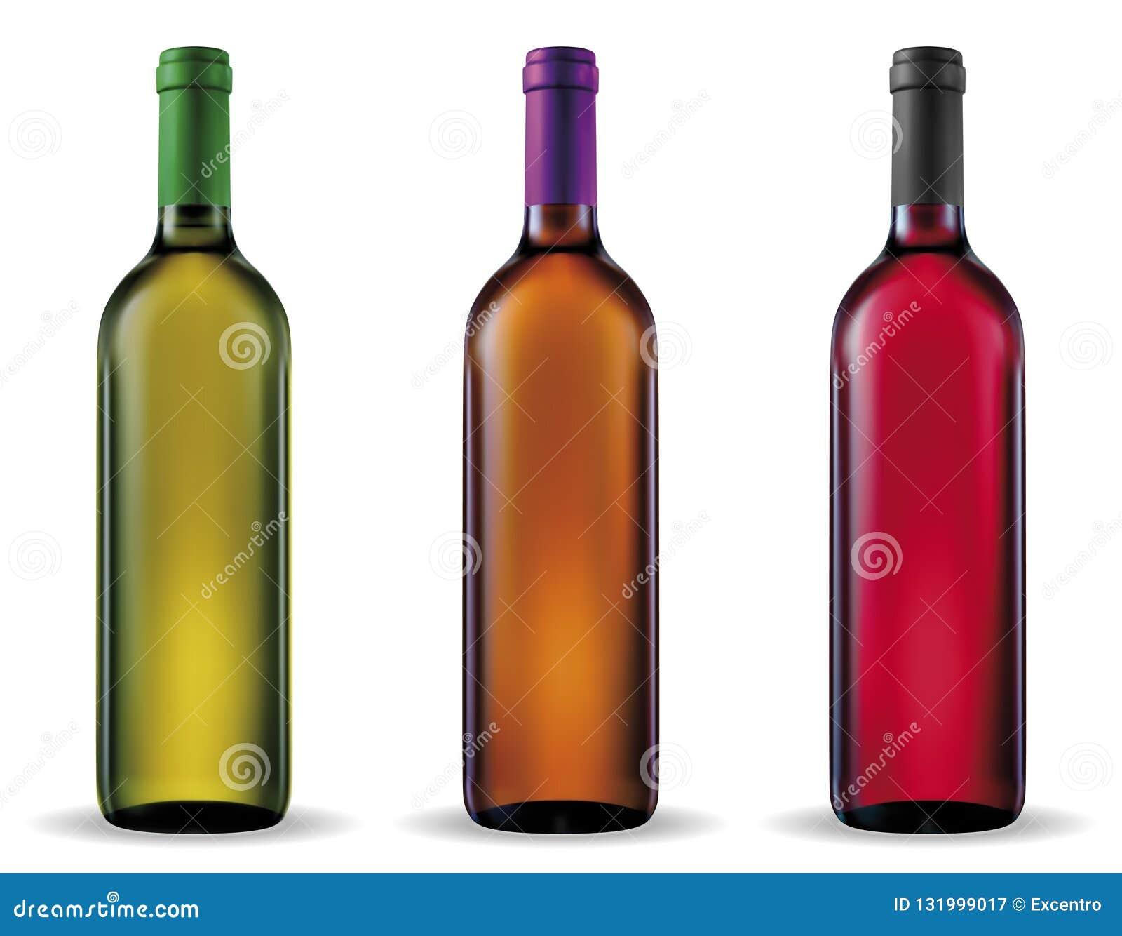 τα τρισδιάστατα μπουκάλια διαμορφώνουν το άσπρο κρασί