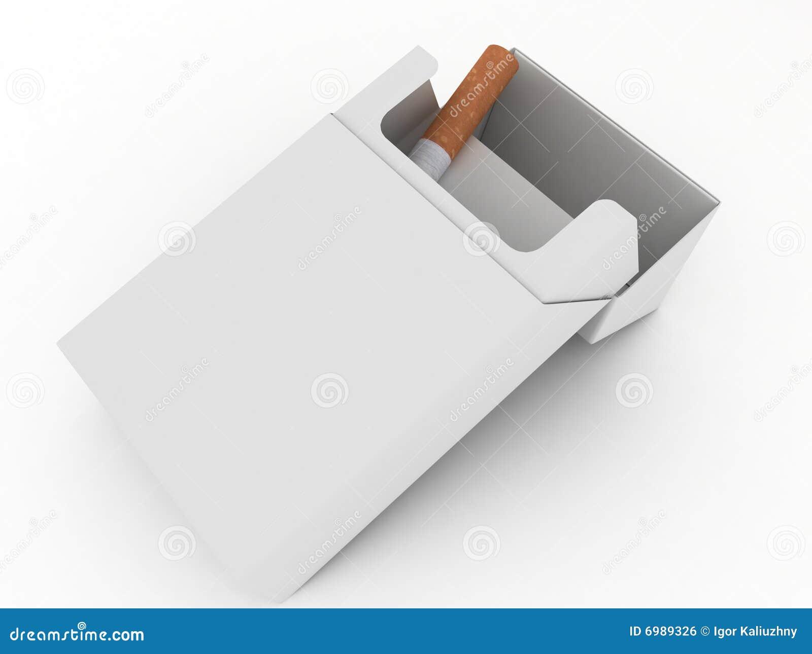 τα τσιγάρα απομόνωσαν το ανοικτό λευκό πακέτων