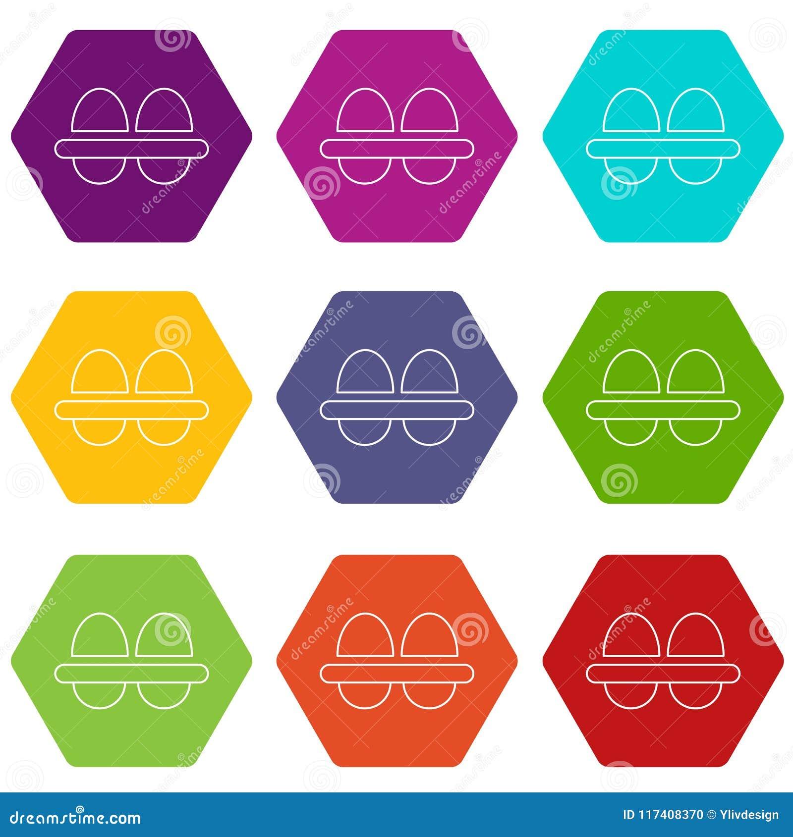 Τα φρέσκα εικονίδια αυγών θέτουν το διάνυσμα 9