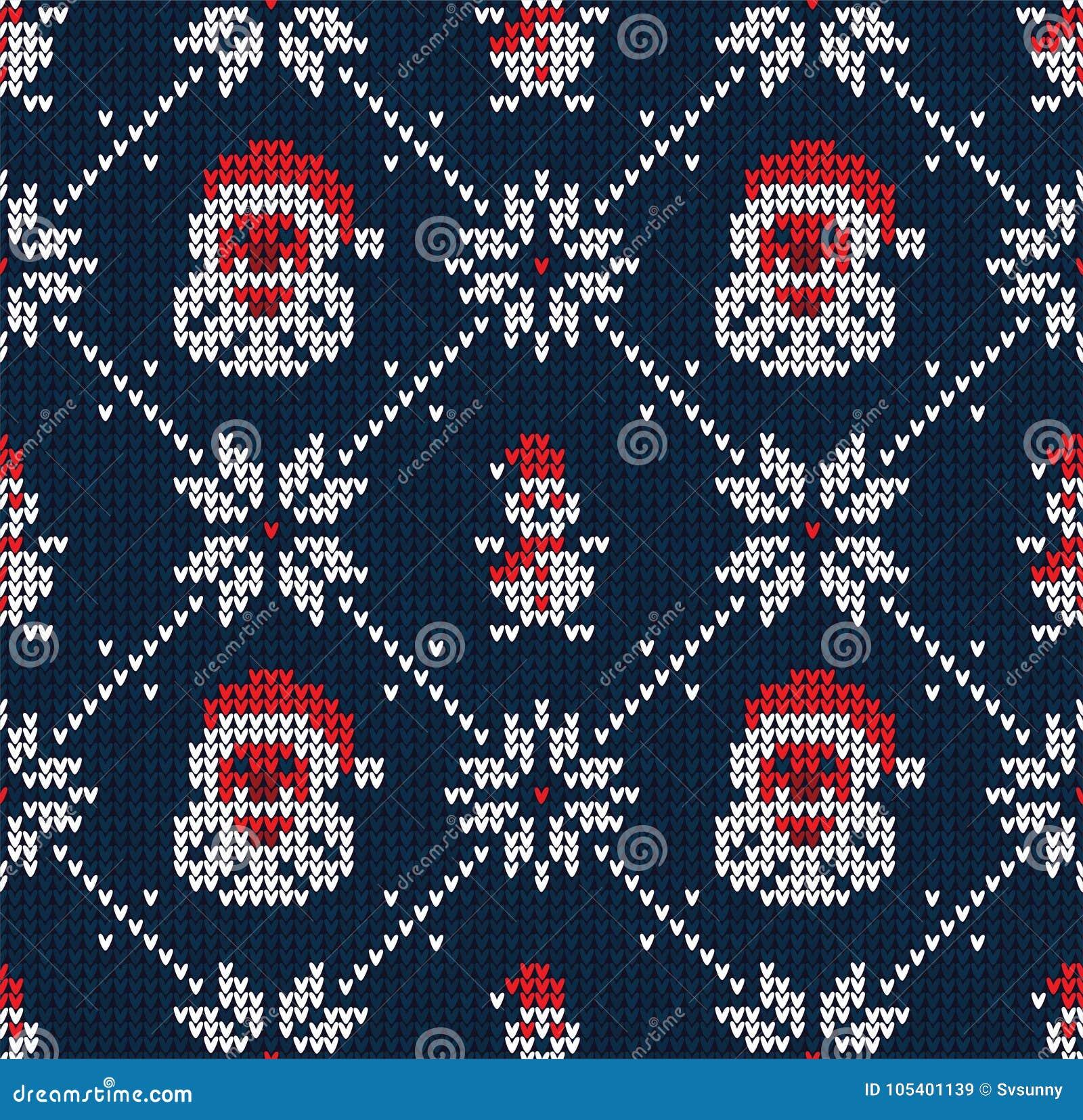 Download Τα χειμερινά Χριστούγεννα έπλεξαν το άνευ ραφής αφηρημένο υπόβαθρο Άγιος Βασίλης, Snowflakes, χιονάνθρωπος Απεικόνιση αποθεμάτων - εικονογραφία από σχέδιο, πράσινος: 105401139
