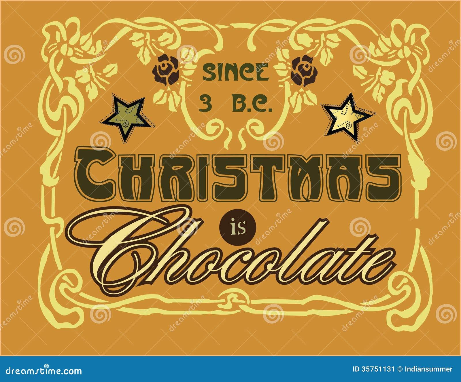 Τα Χριστούγεννα είναι σοκολατένια