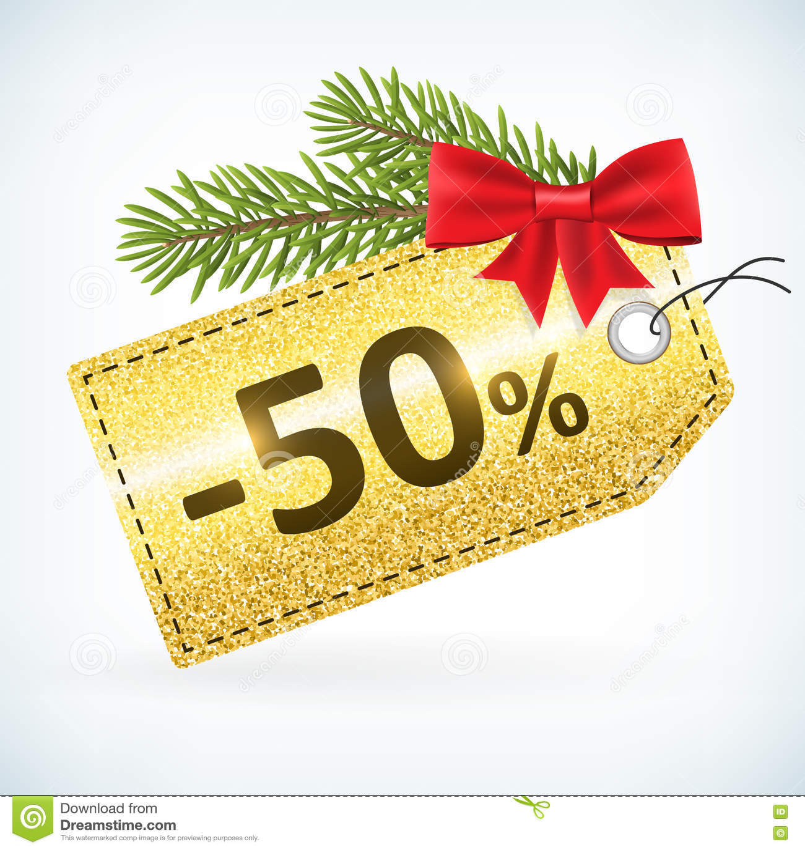 Τα Χριστούγεννα χρυσά ακτινοβολούν ετικέτα 50 τοις εκατό