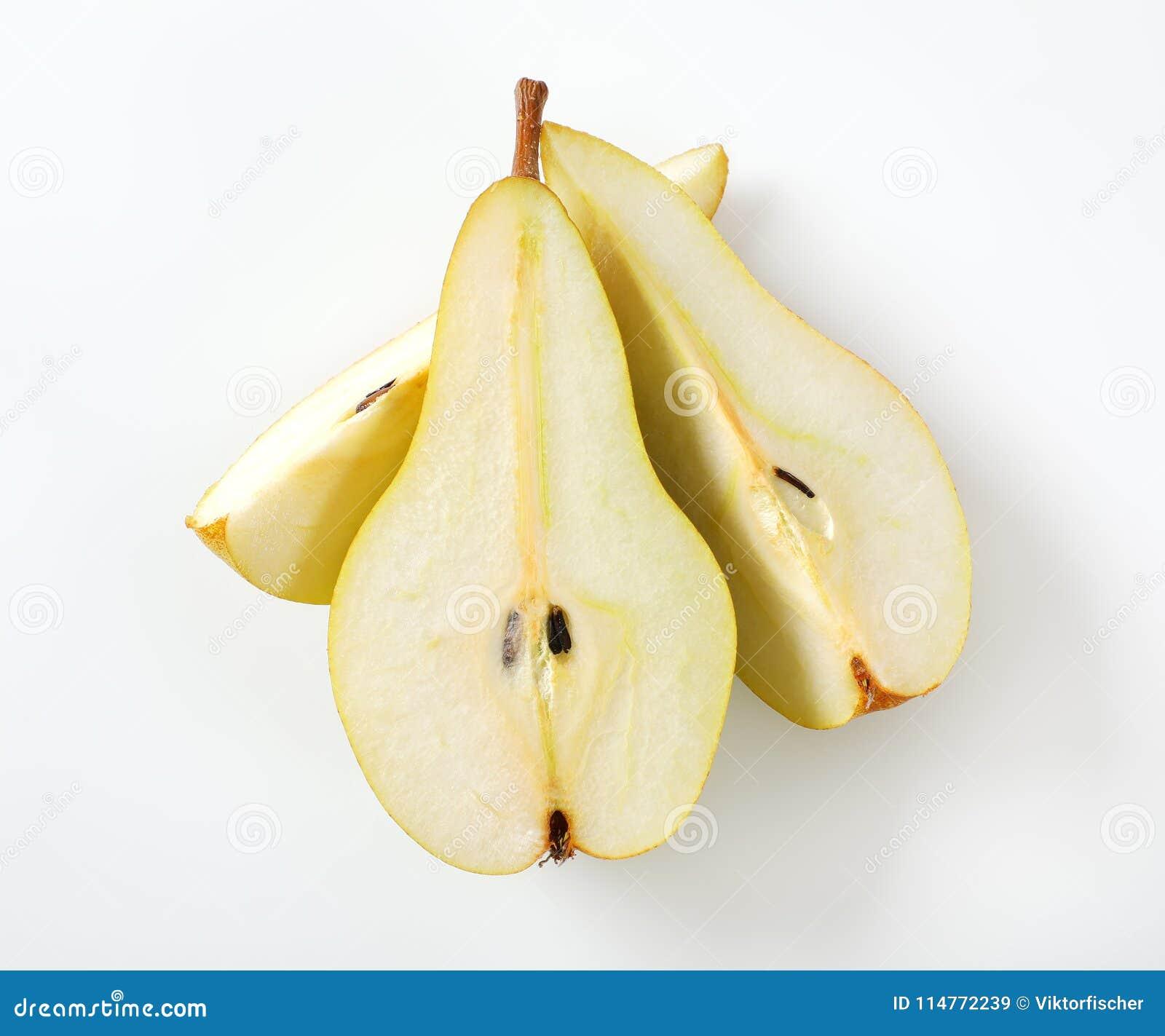 Τεμαχισμένο κίτρινο αχλάδι