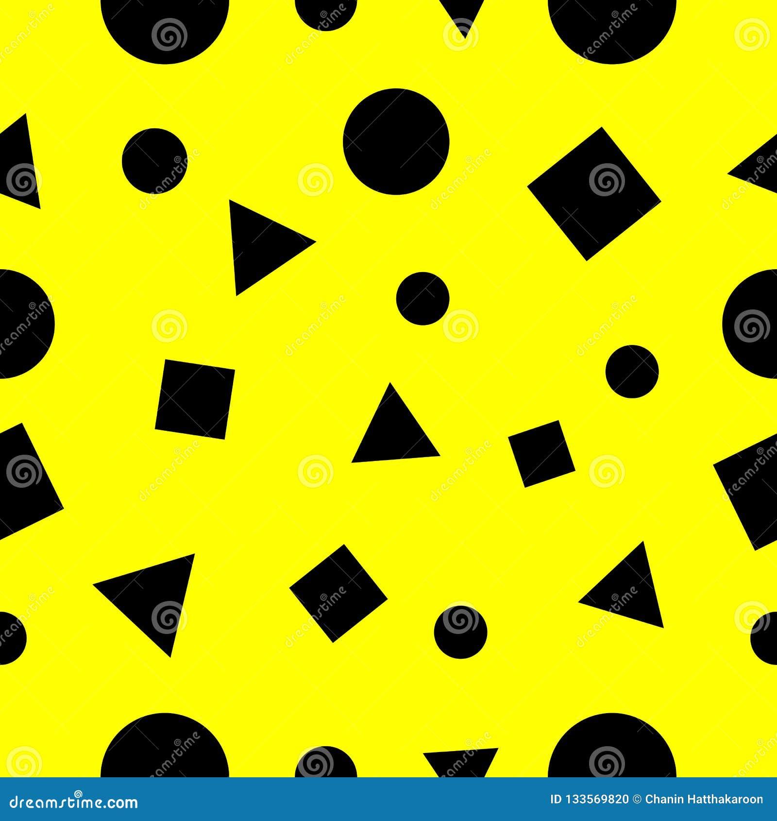 Τετράγωνα, άνευ ραφής περίληψη σχεδίων τριγώνων και γεωμετρίας κύκλων