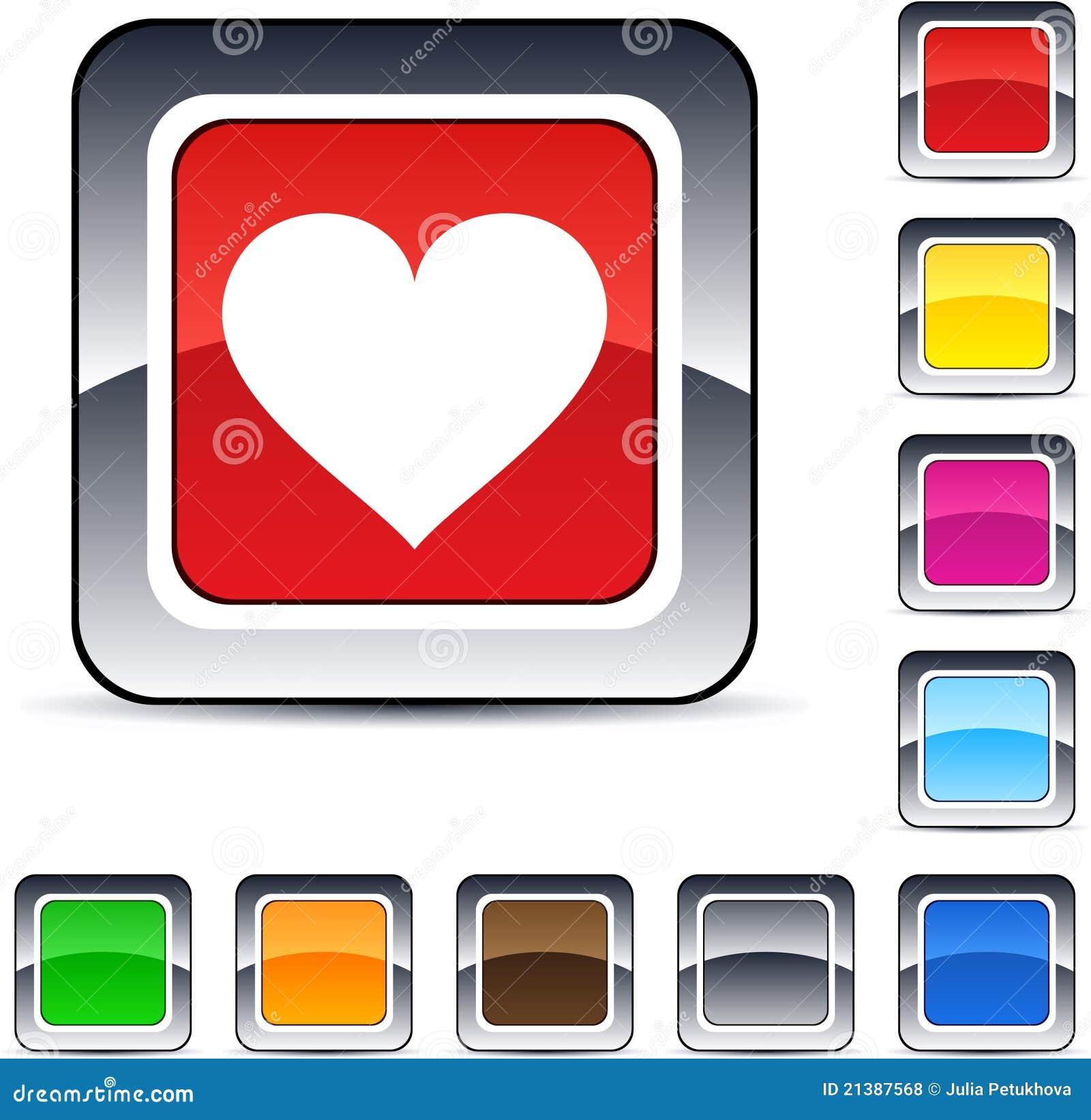 τετράγωνο καρδιών κουμπι