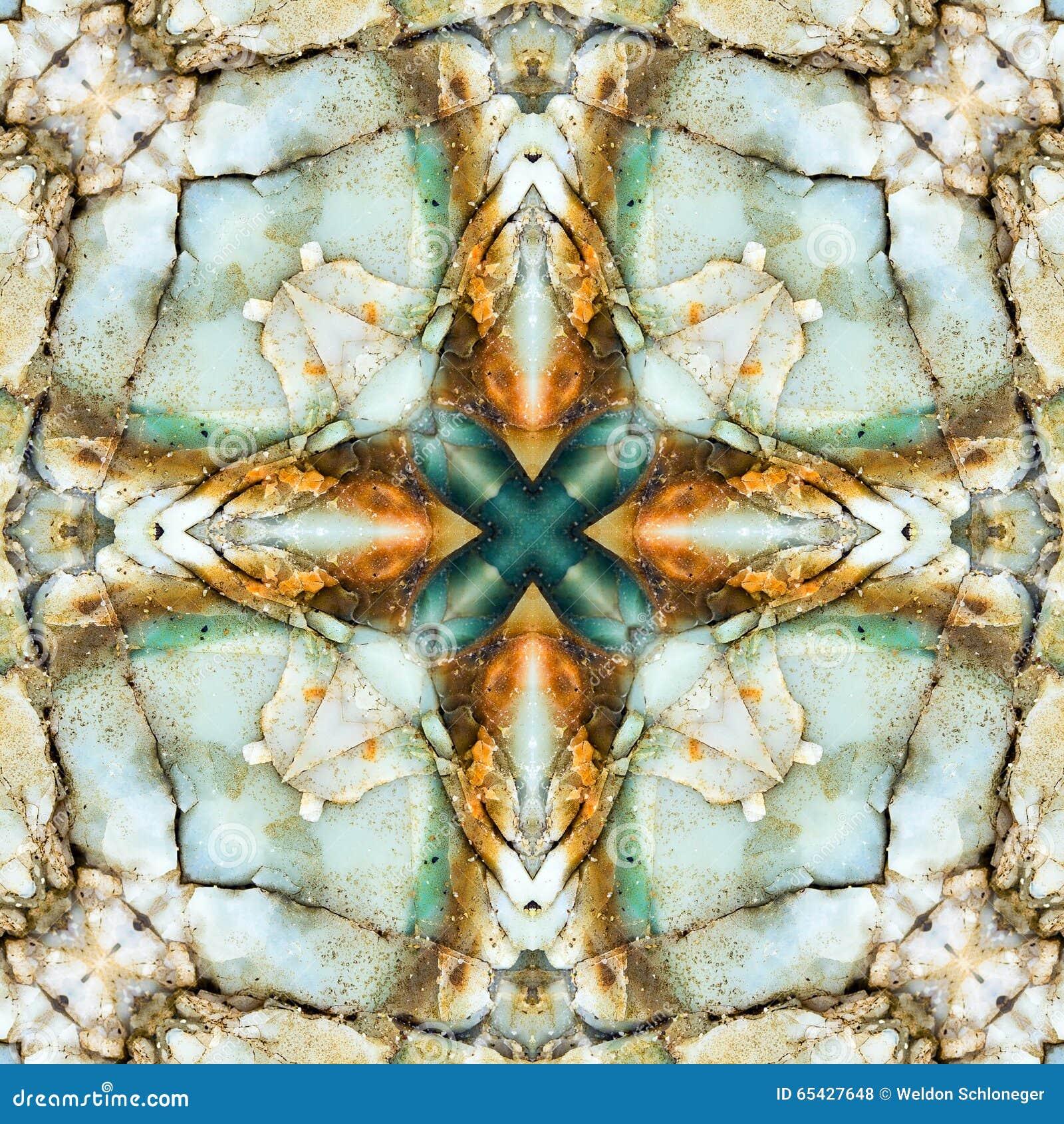 Τετράγωνο καλειδοσκόπιων: chert στρώματα, ακτή του Όρεγκον